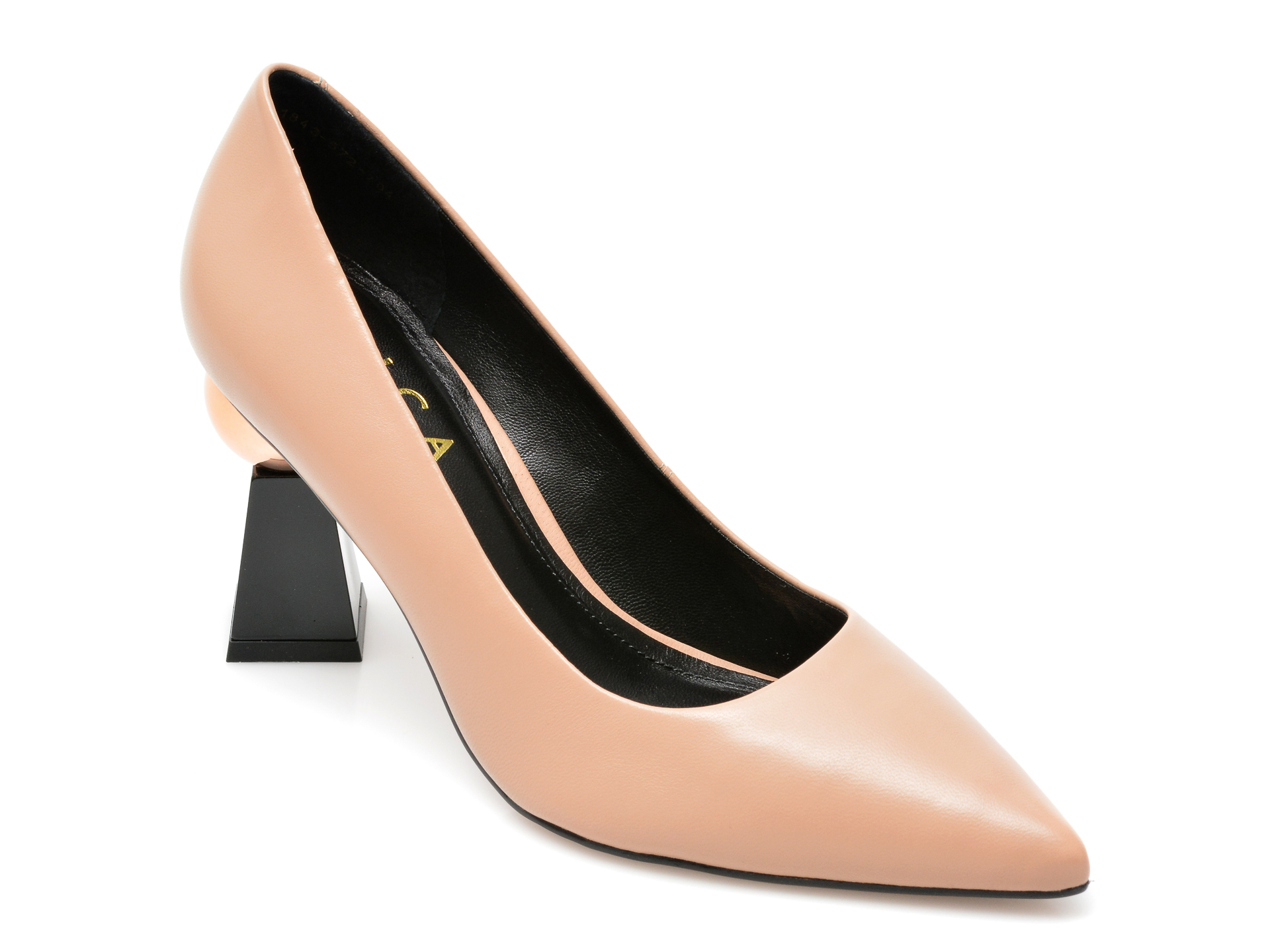 Pantofi EPICA bej, 1843704, din piele naturala imagine otter.ro