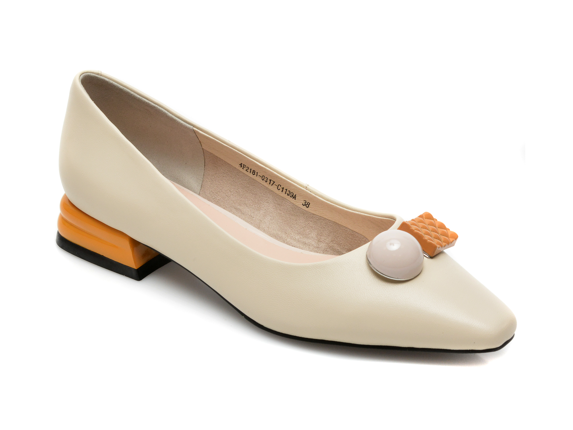 Pantofi EPICA bej, 4F2181, din piele naturala imagine otter.ro 2021