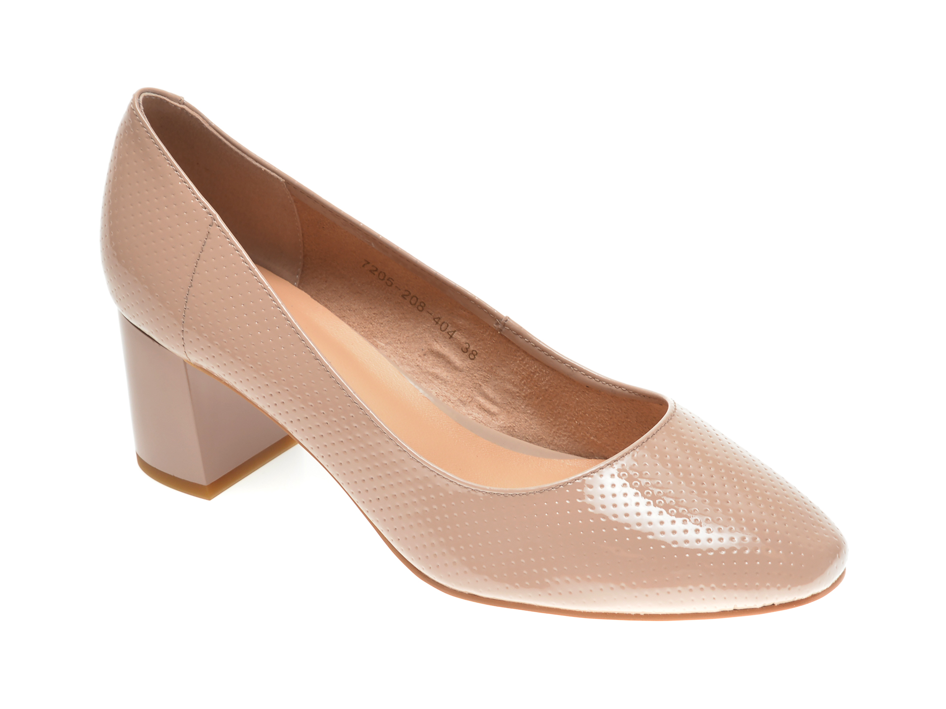 Pantofi EPICA bej, 7205208, din piele naturala lacuita New