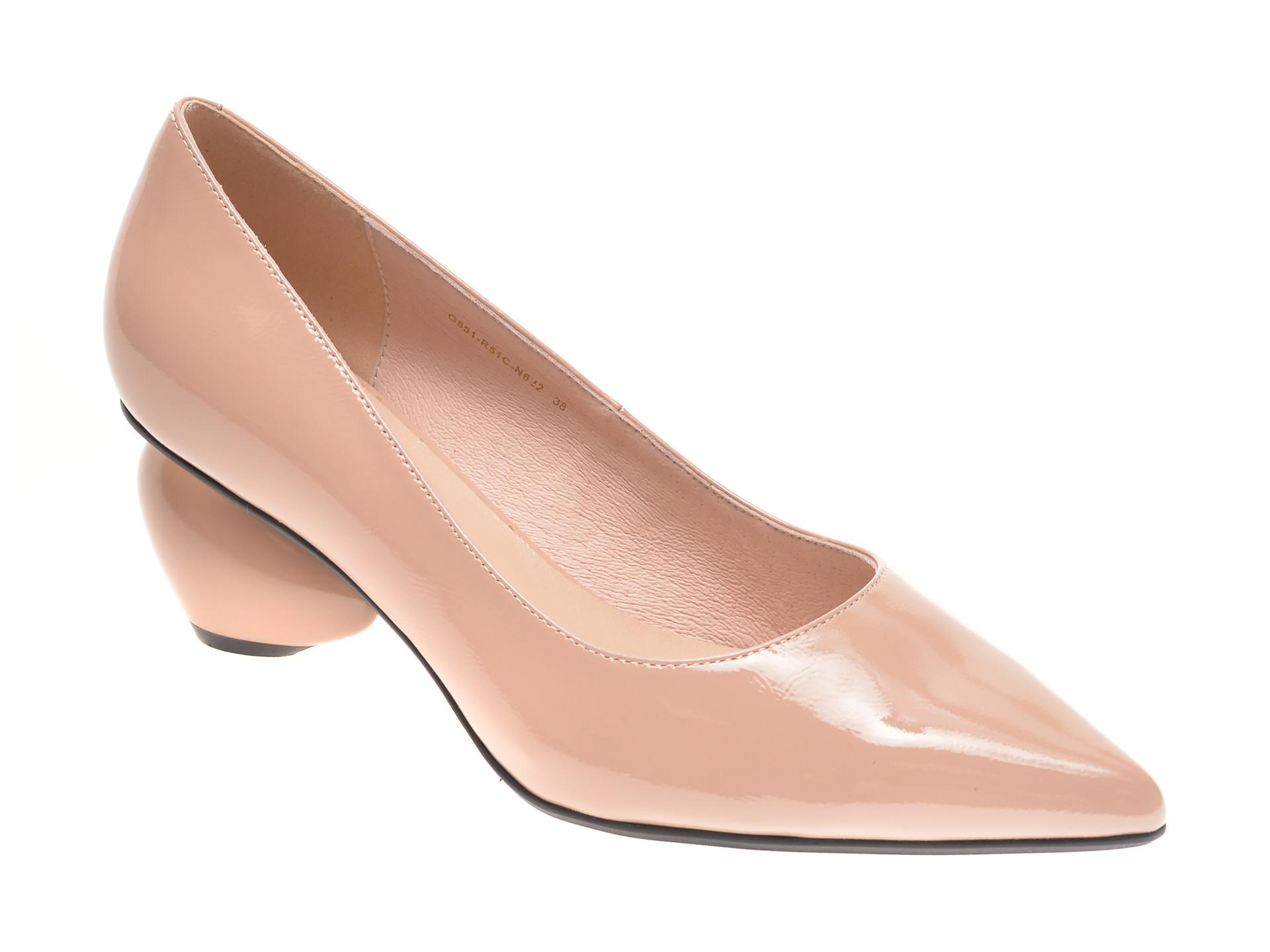 Pantofi EPICA bej, G851R51, din piele naturala lacuita imagine otter.ro