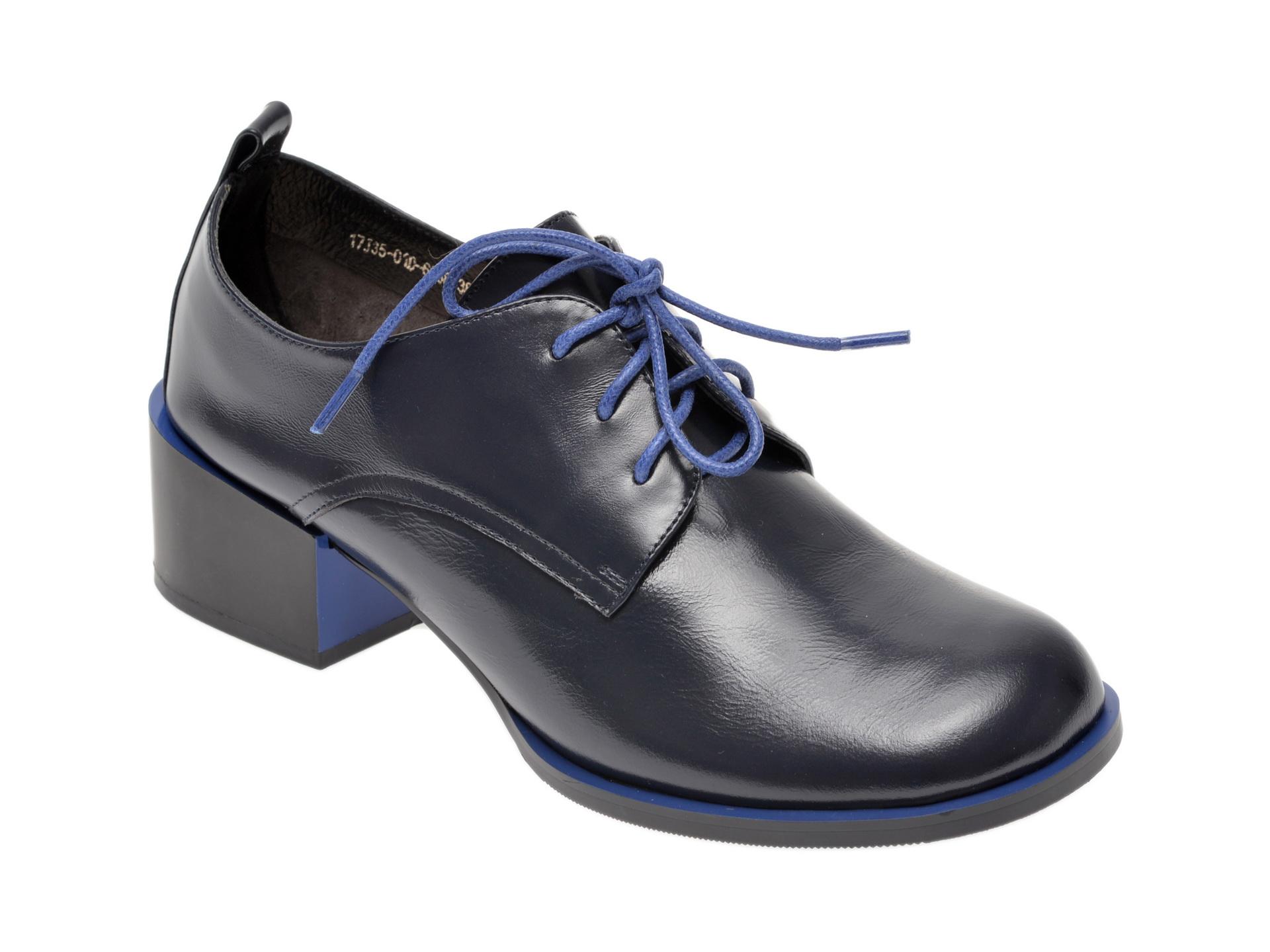 Pantofi EPICA bleumarin, 17J3501, din piele naturala imagine