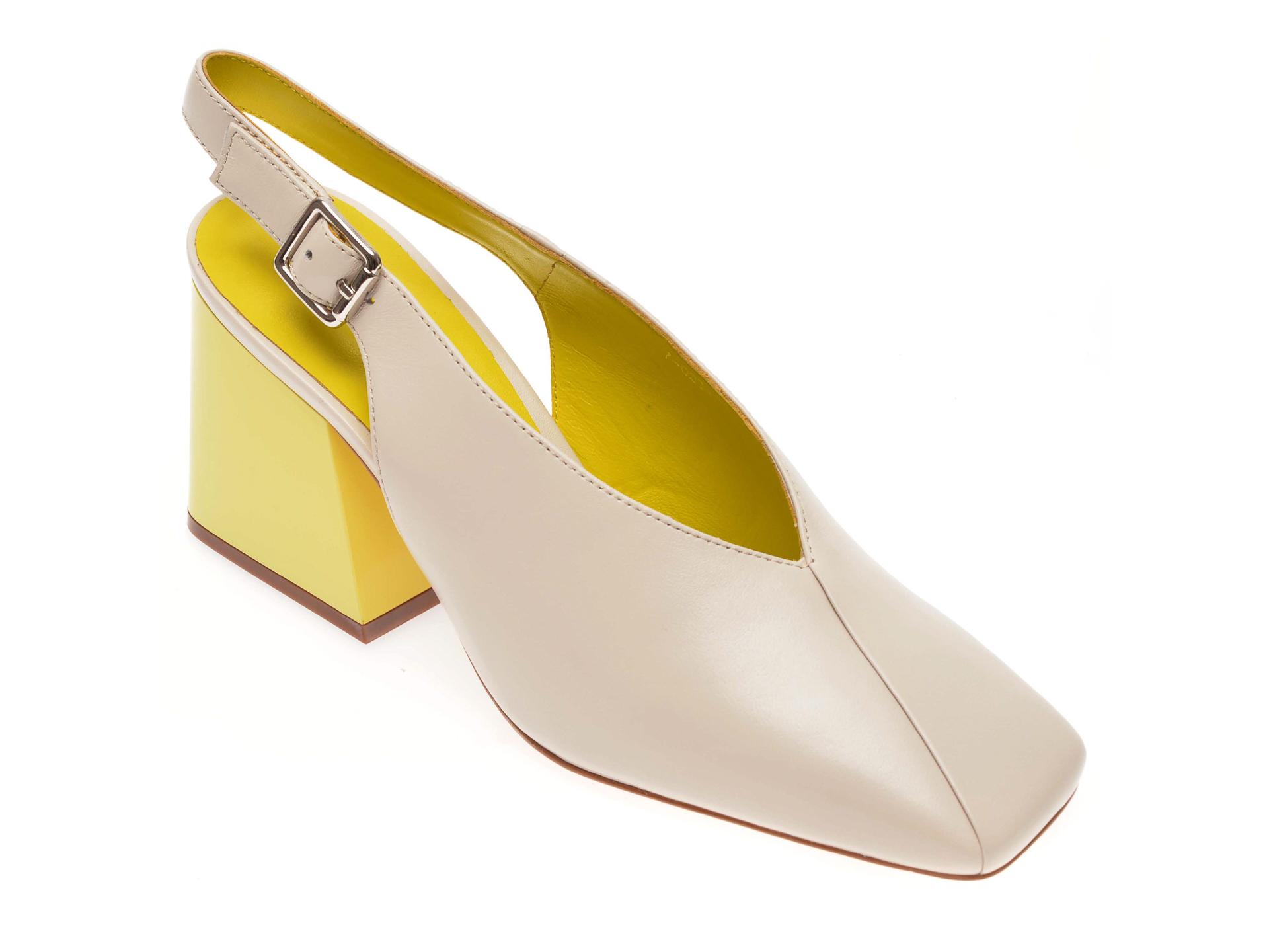 Pantofi EPICA crem, 70232, din piele naturala