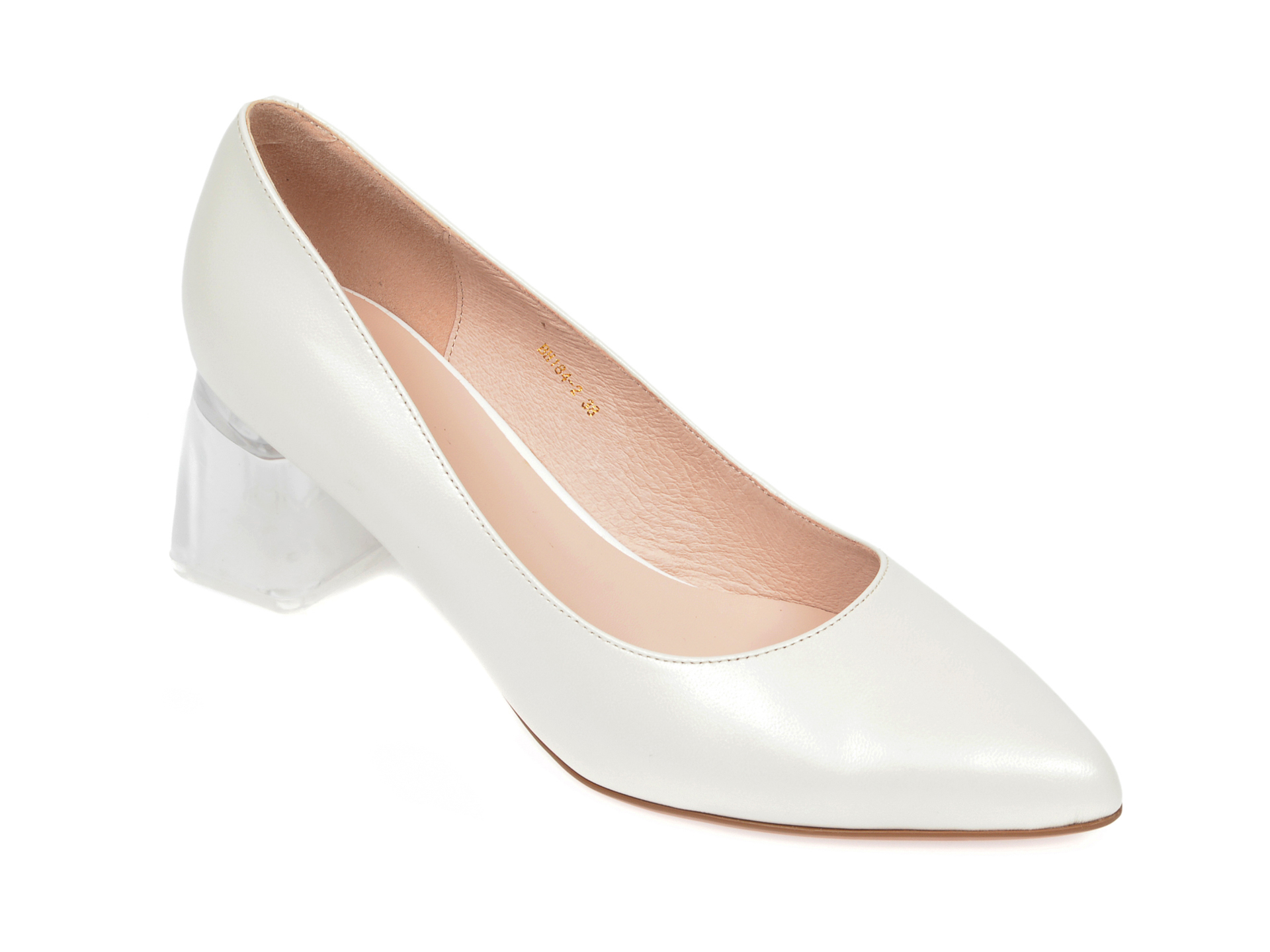 Pantofi EPICA crem, BH184, din piele naturala imagine