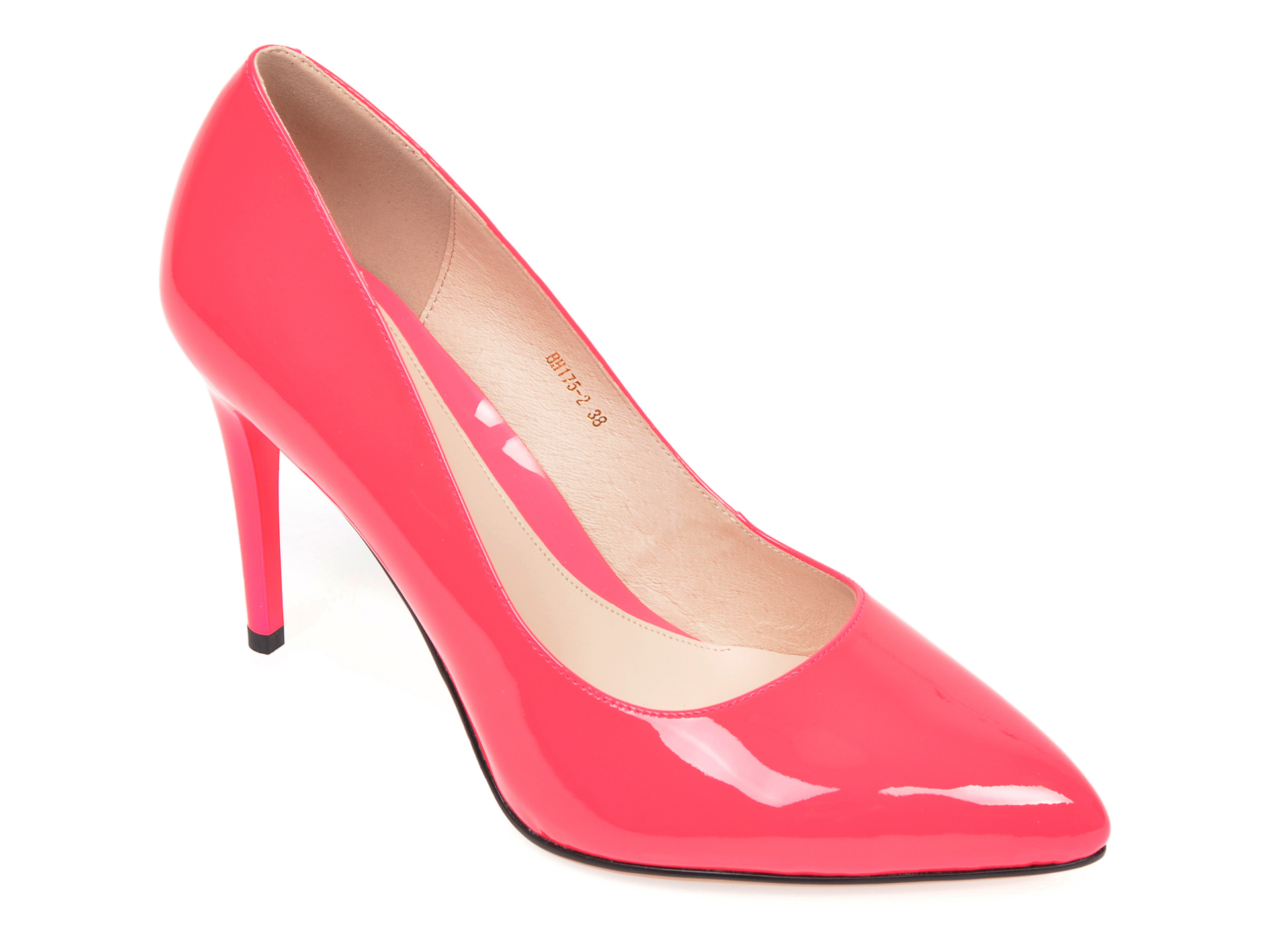 Pantofi EPICA fucsia, BH175, din piele naturala lacuita