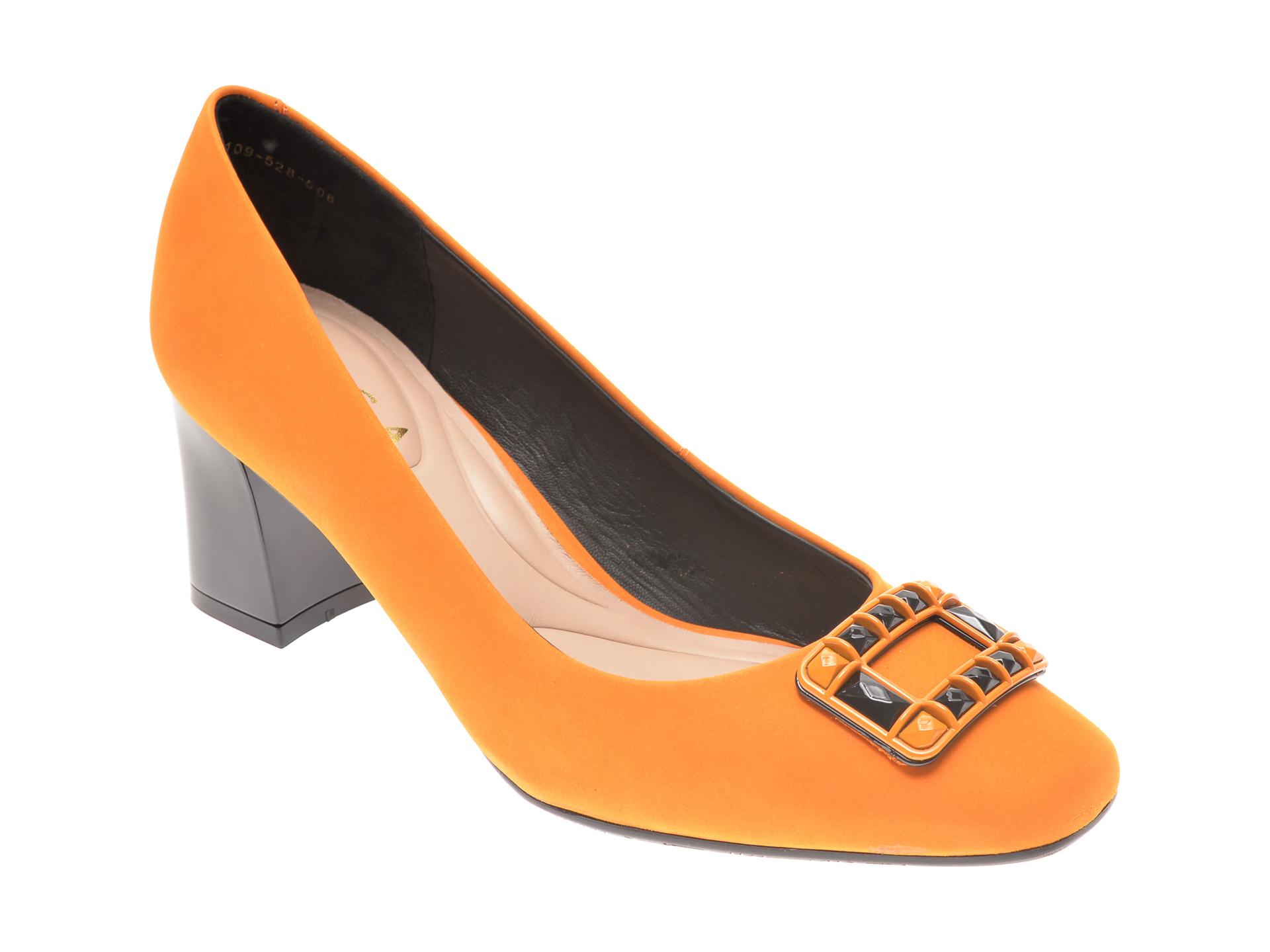 Pantofi EPICA galbeni, 2109528, din nabuc imagine otter.ro