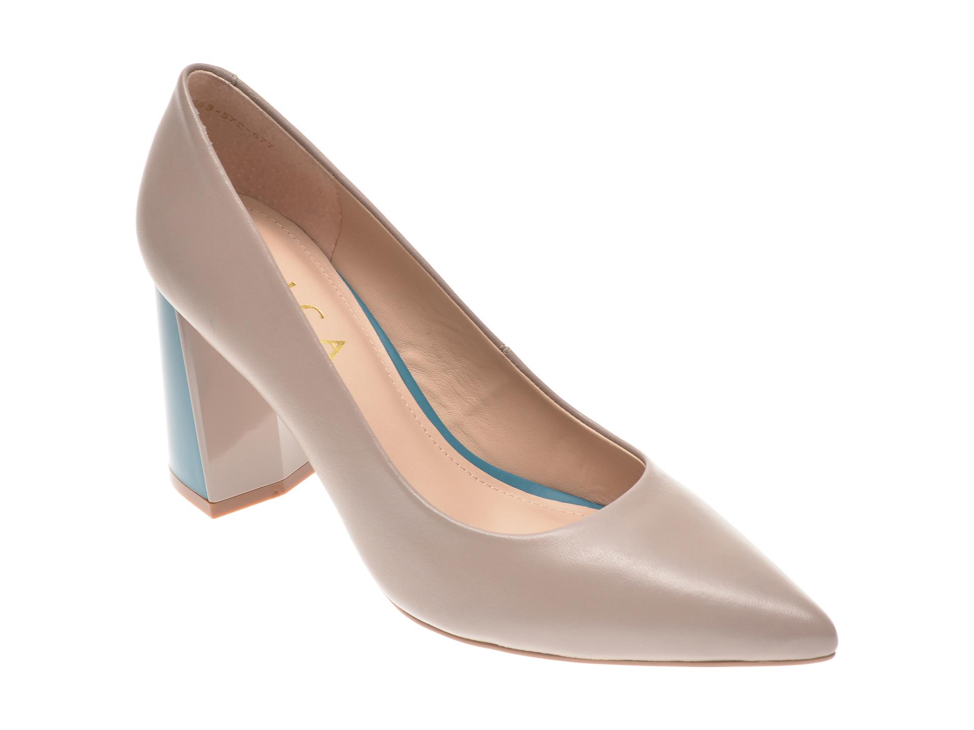 Pantofi EPICA gri, 1843572, din piele naturala