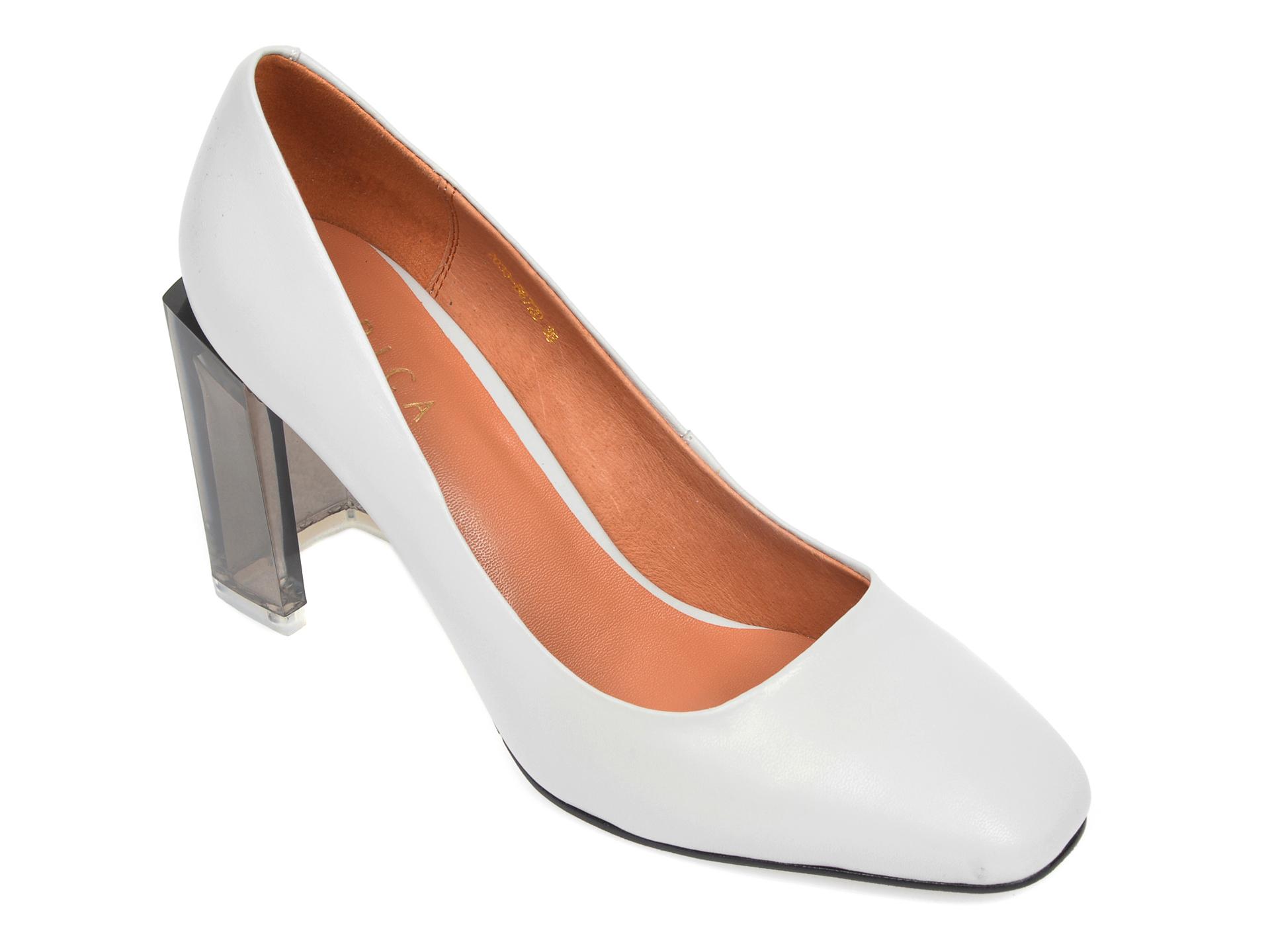 Pantofi EPICA gri, 2033B87, din piele naturala imagine