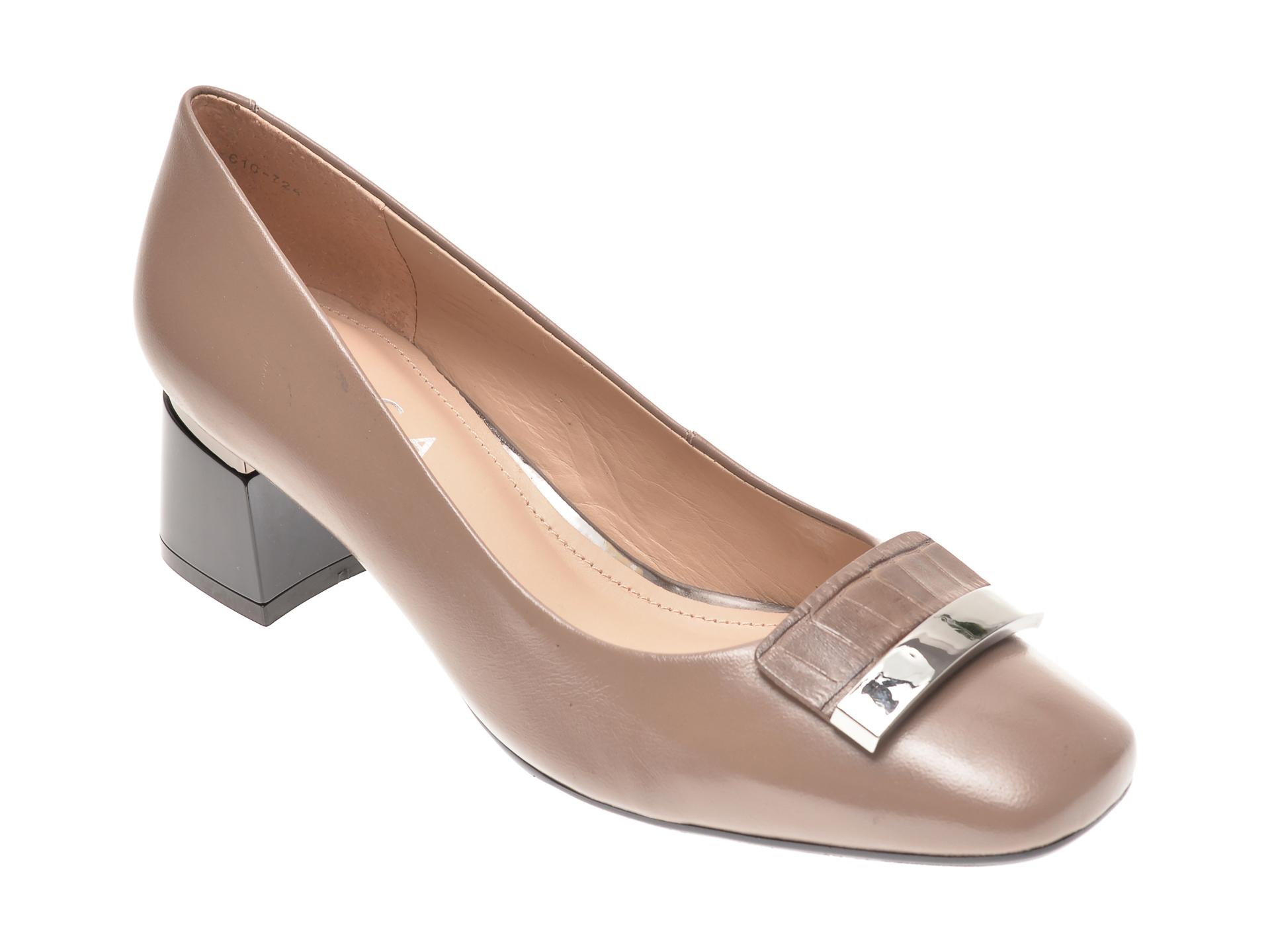 Pantofi EPICA gri, 2061610, din piele naturala