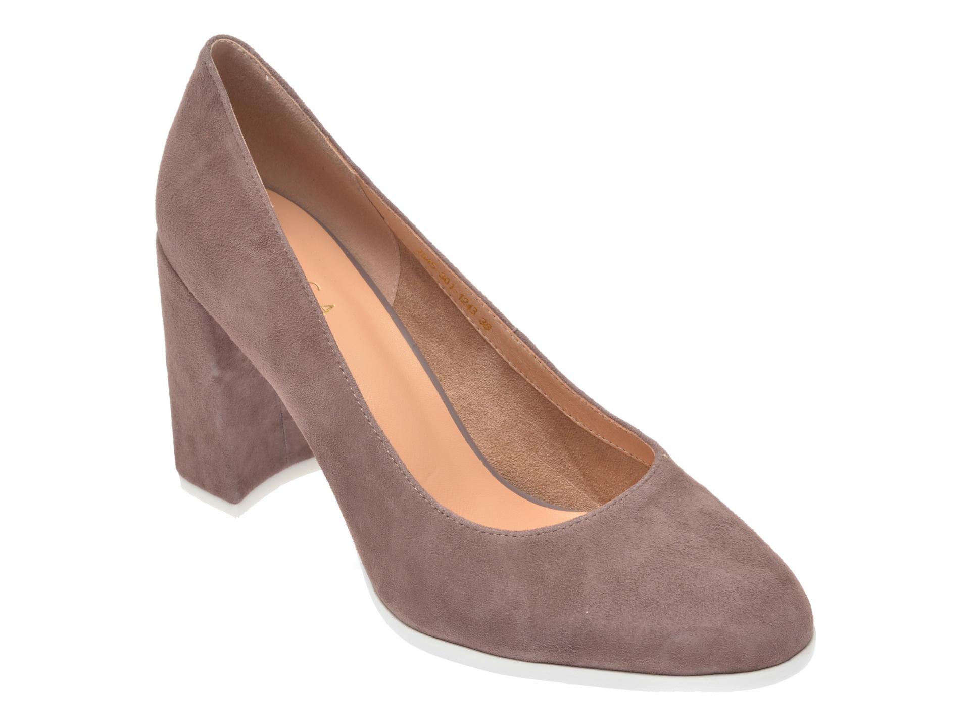 Pantofi EPICA gri, 7545301, din piele intoarsa imagine