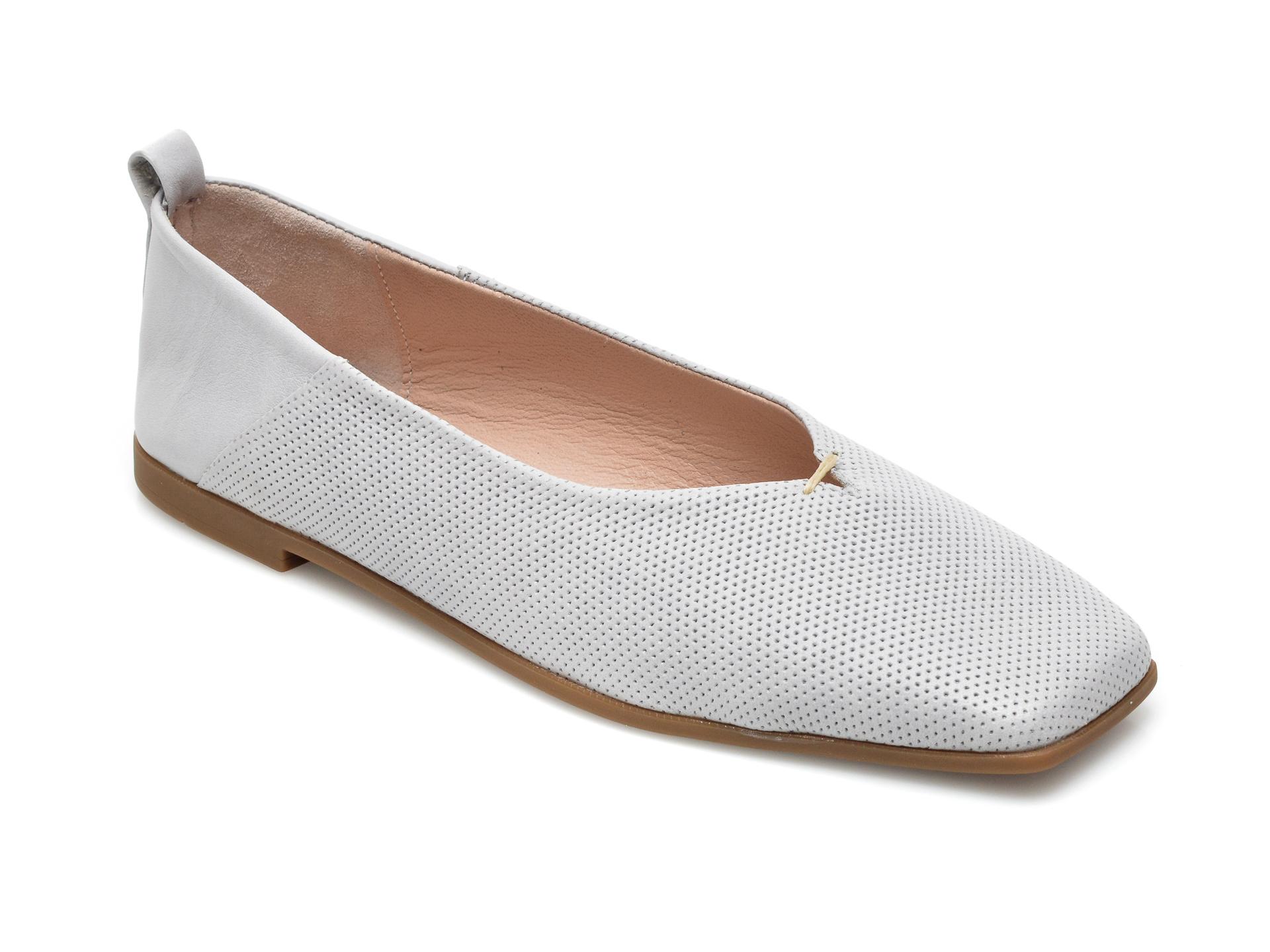 Pantofi EPICA gri, 8110, din piele naturala
