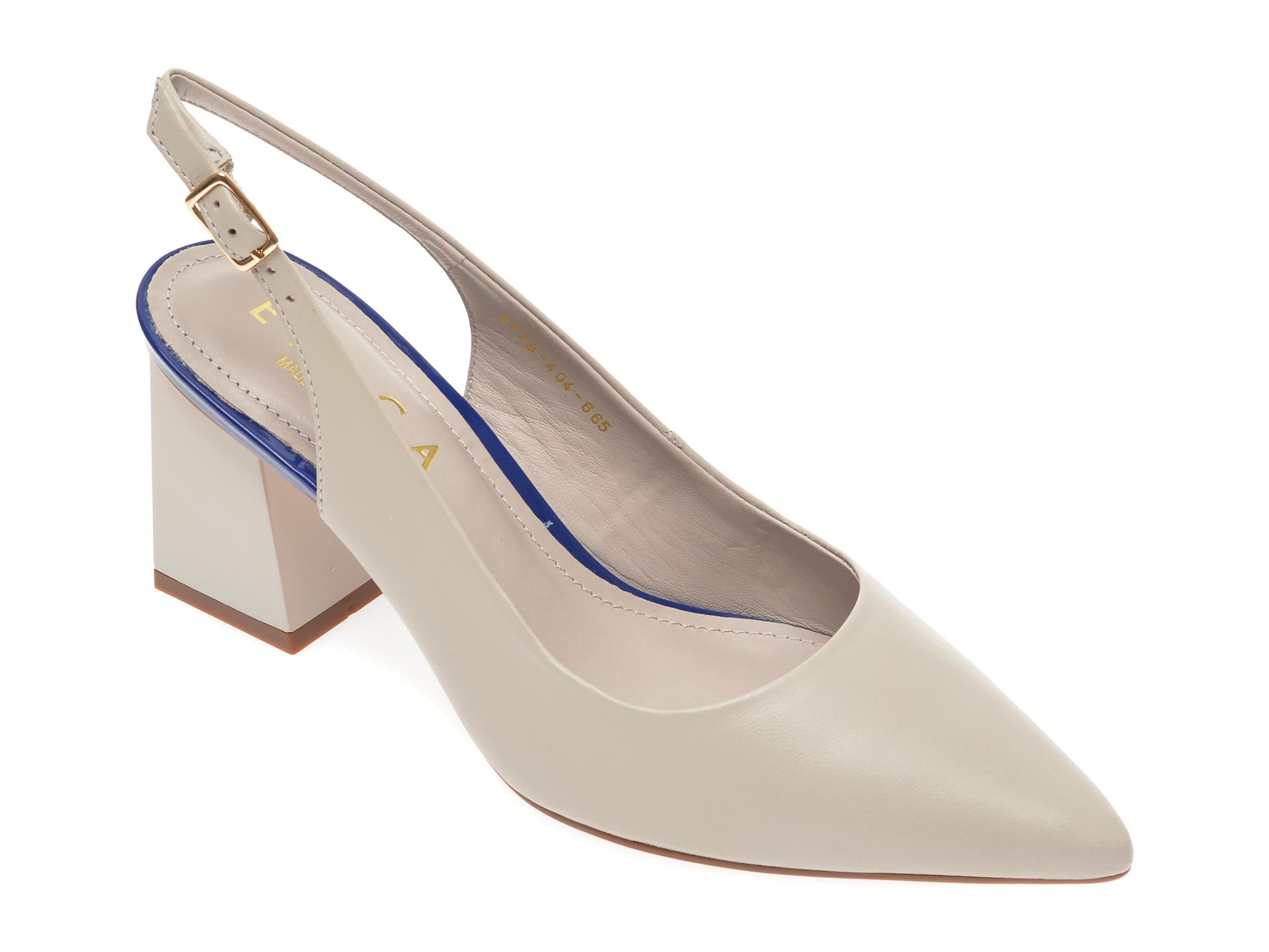 Pantofi EPICA gri, 8778404, din piele naturala New
