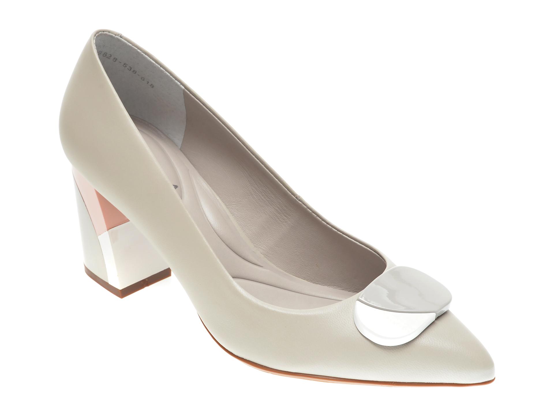 Pantofi EPICA gri, 9628538, din piele naturala imagine