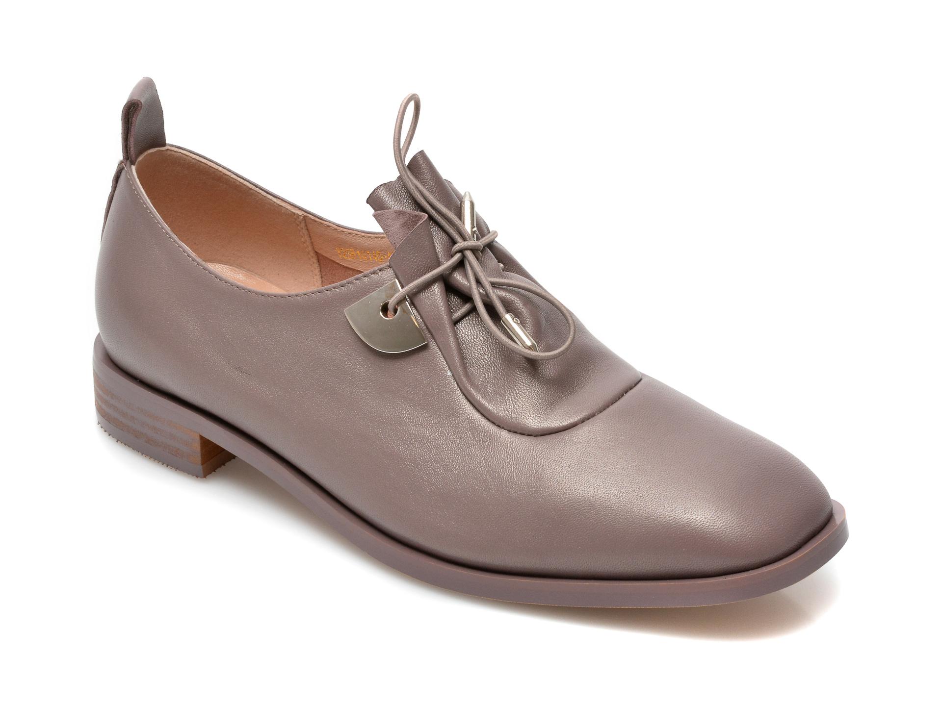 Pantofi EPICA gri, Y2561Q1, din piele naturala imagine otter.ro 2021