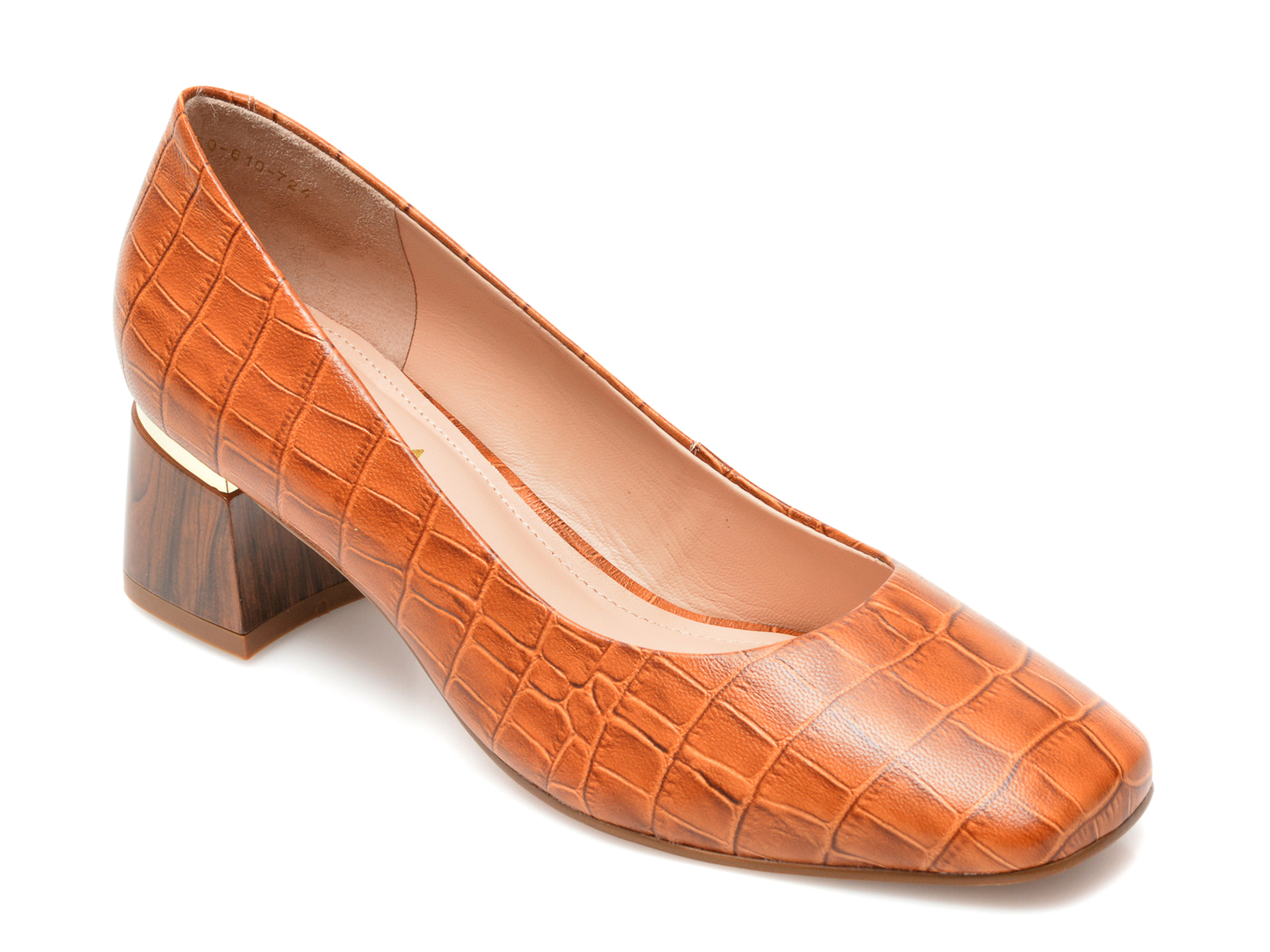 Pantofi EPICA maro, 2060724, din piele naturala imagine otter.ro
