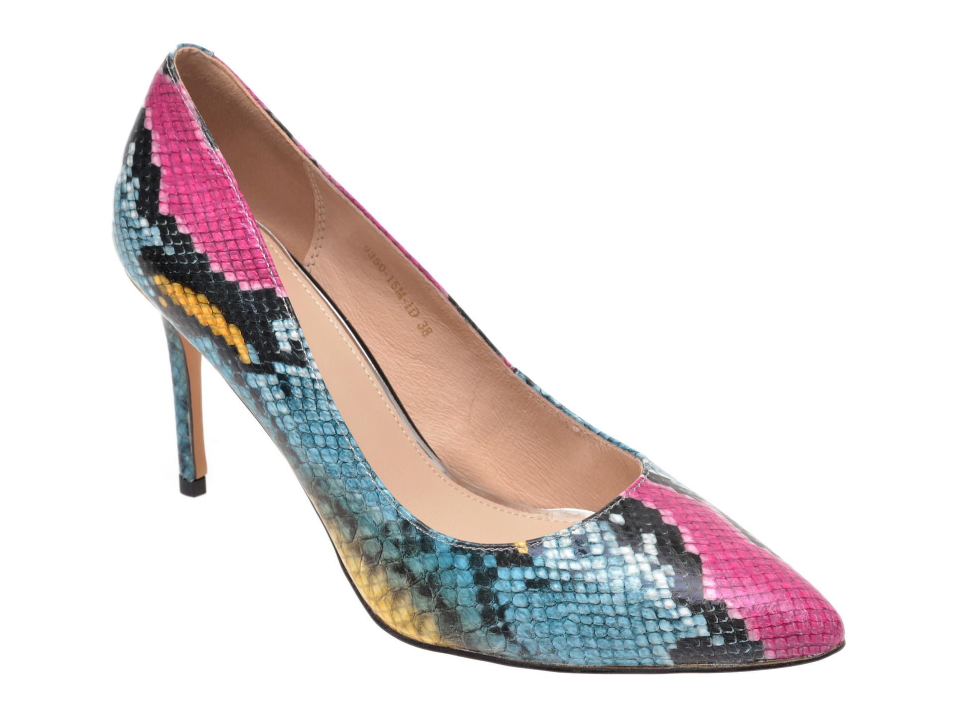 Pantofi EPICA multicolori, 935015, din piele naturala