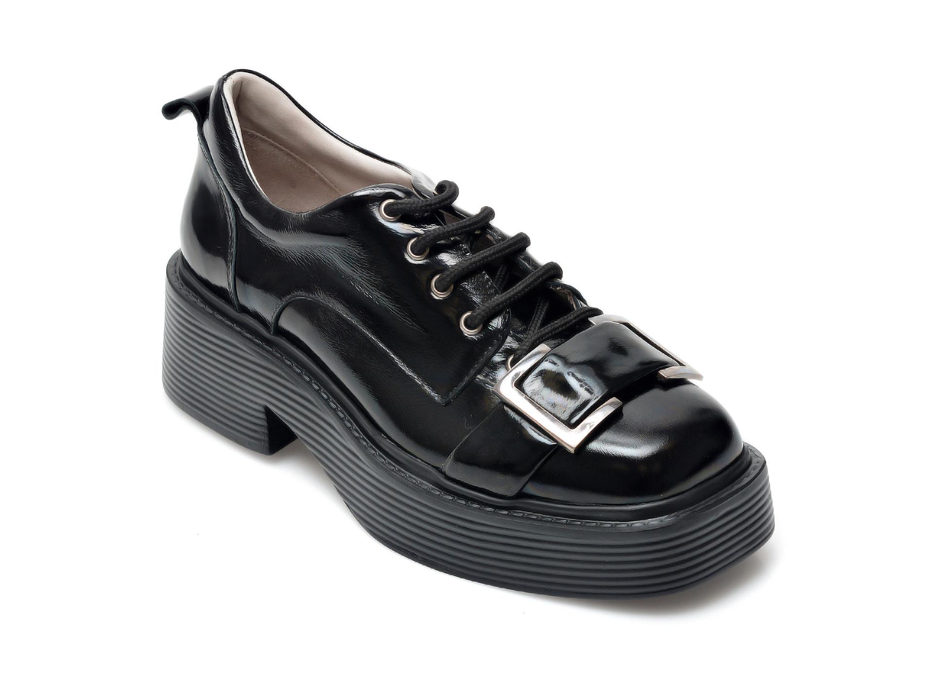 Pantofi EPICA negri, 106004, din piele naturala lacuita imagine otter.ro 2021