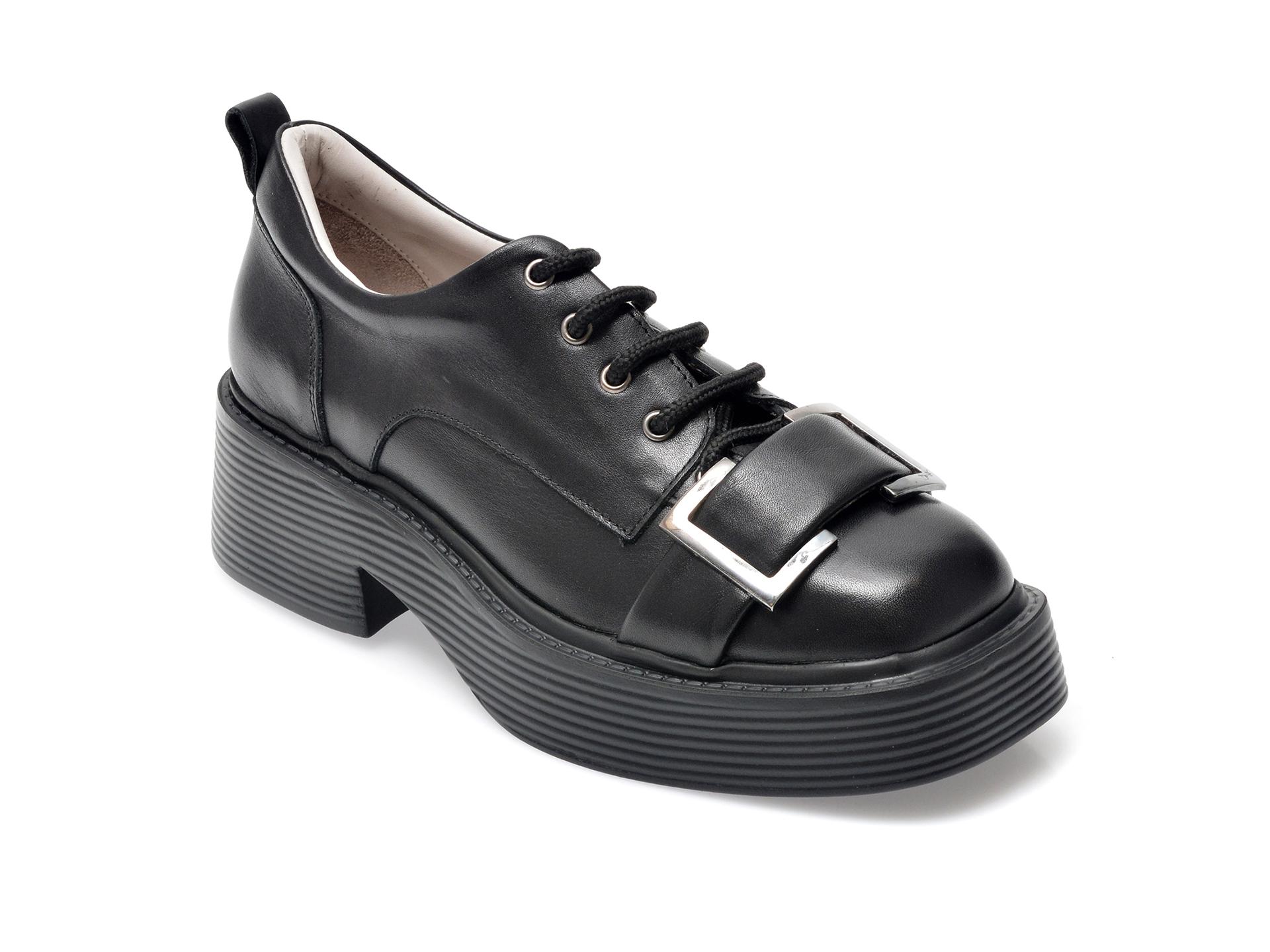 Pantofi EPICA negri, 106004, din piele naturala imagine otter.ro 2021