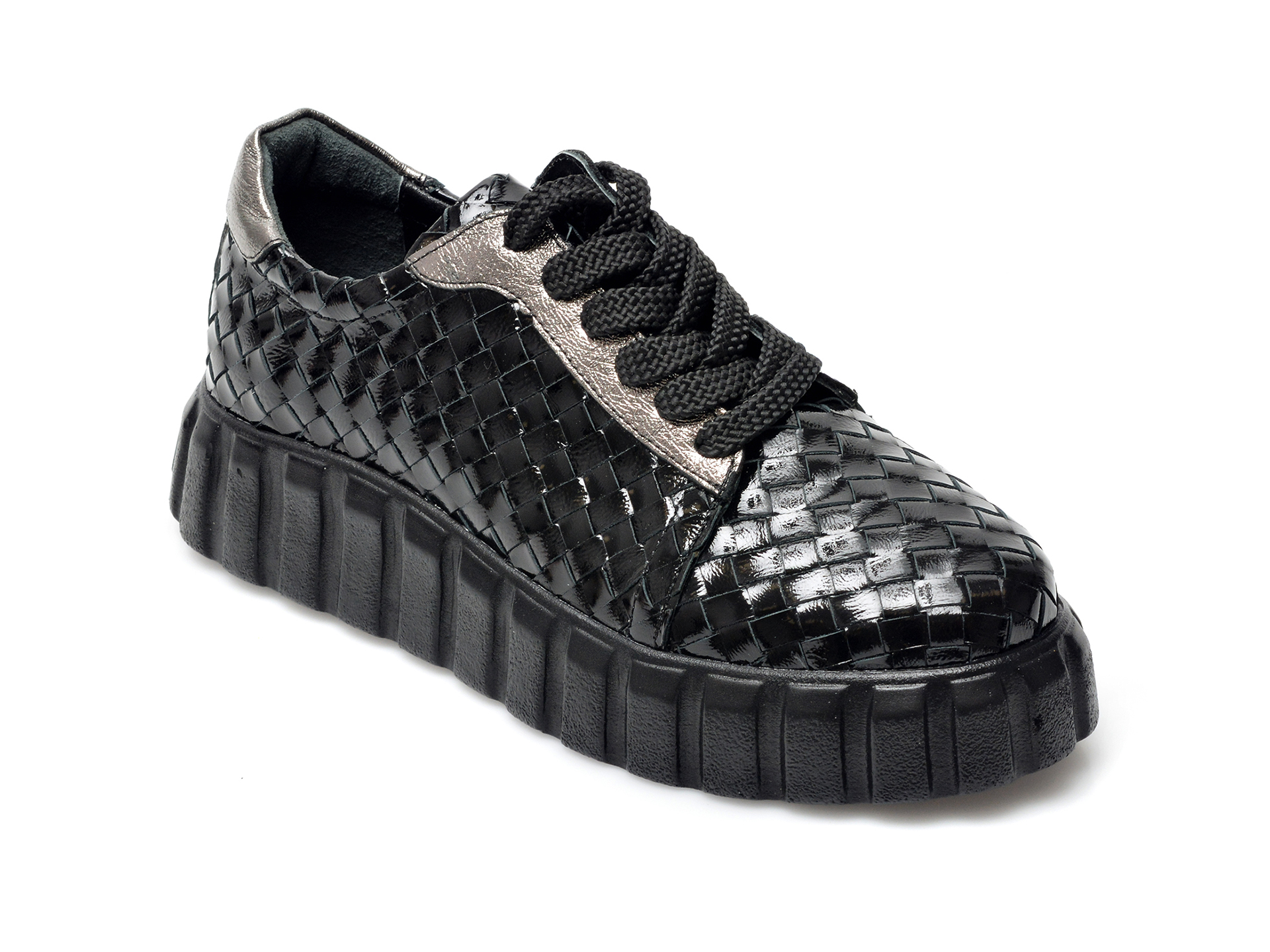Pantofi EPICA negri, 111Y211, din piele naturala lacuita imagine otter.ro 2021