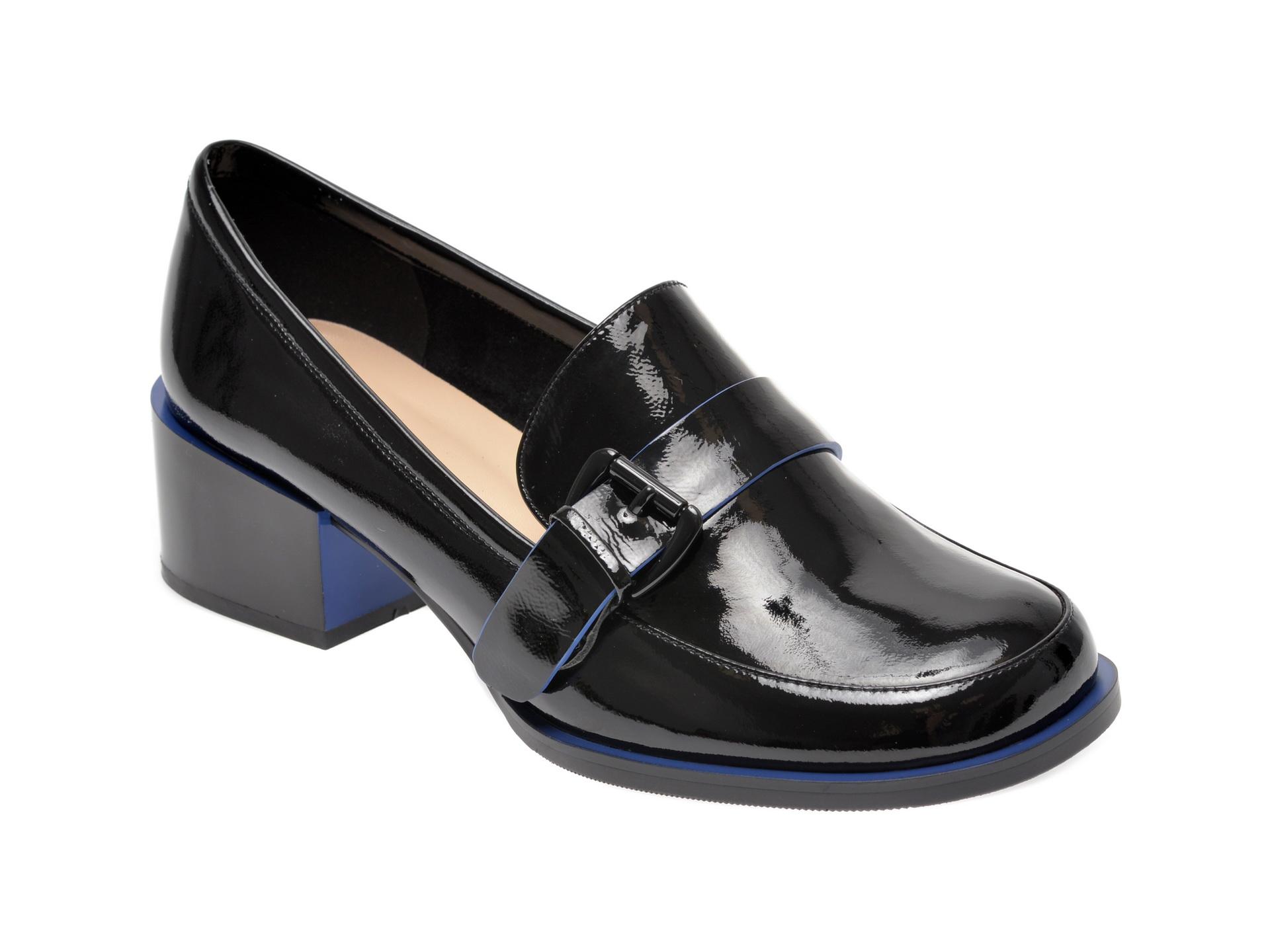 Pantofi EPICA negri, 17J3520, din piele naturala lacuita