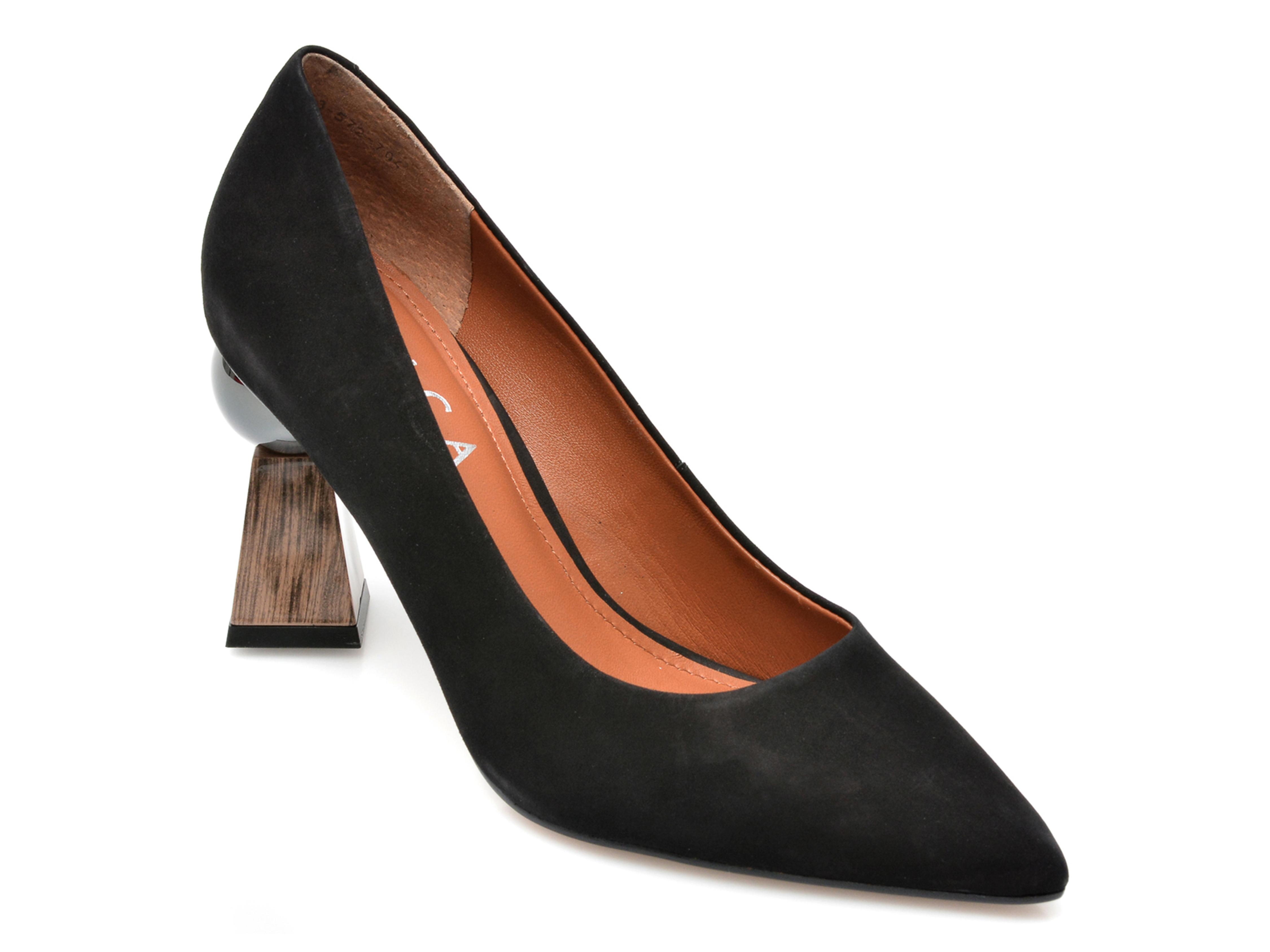 Pantofi EPICA negri, 1843704, din nabuc imagine otter.ro