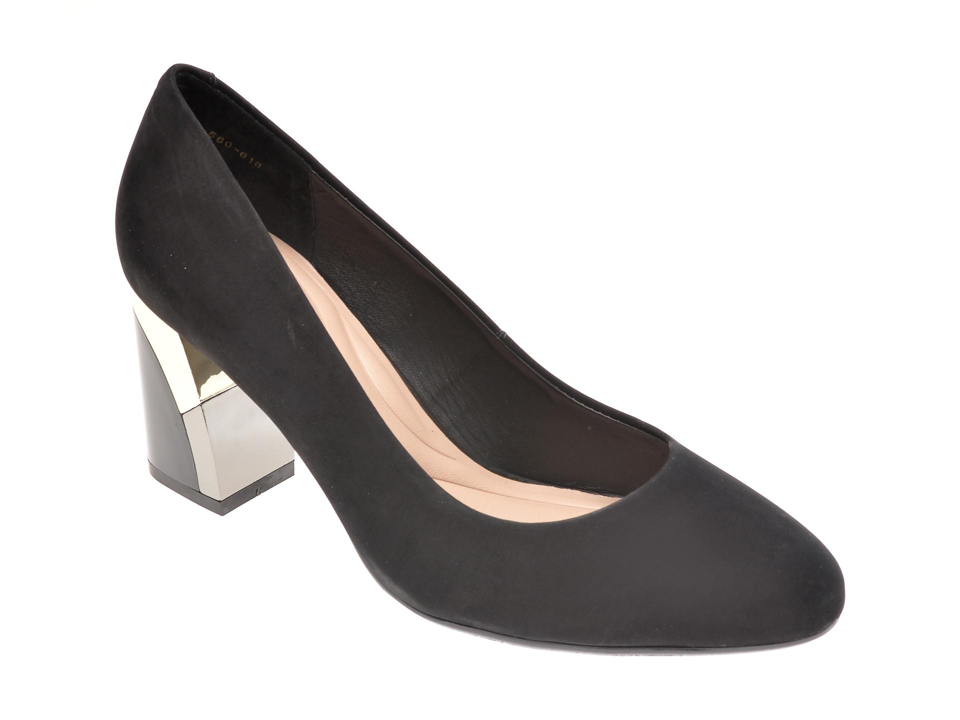 Pantofi Epica Negri, 1952560, Din Nabuc