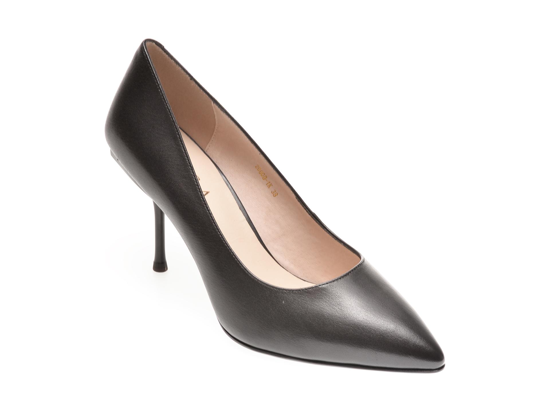Pantofi EPICA negri, 20008, din piele naturala