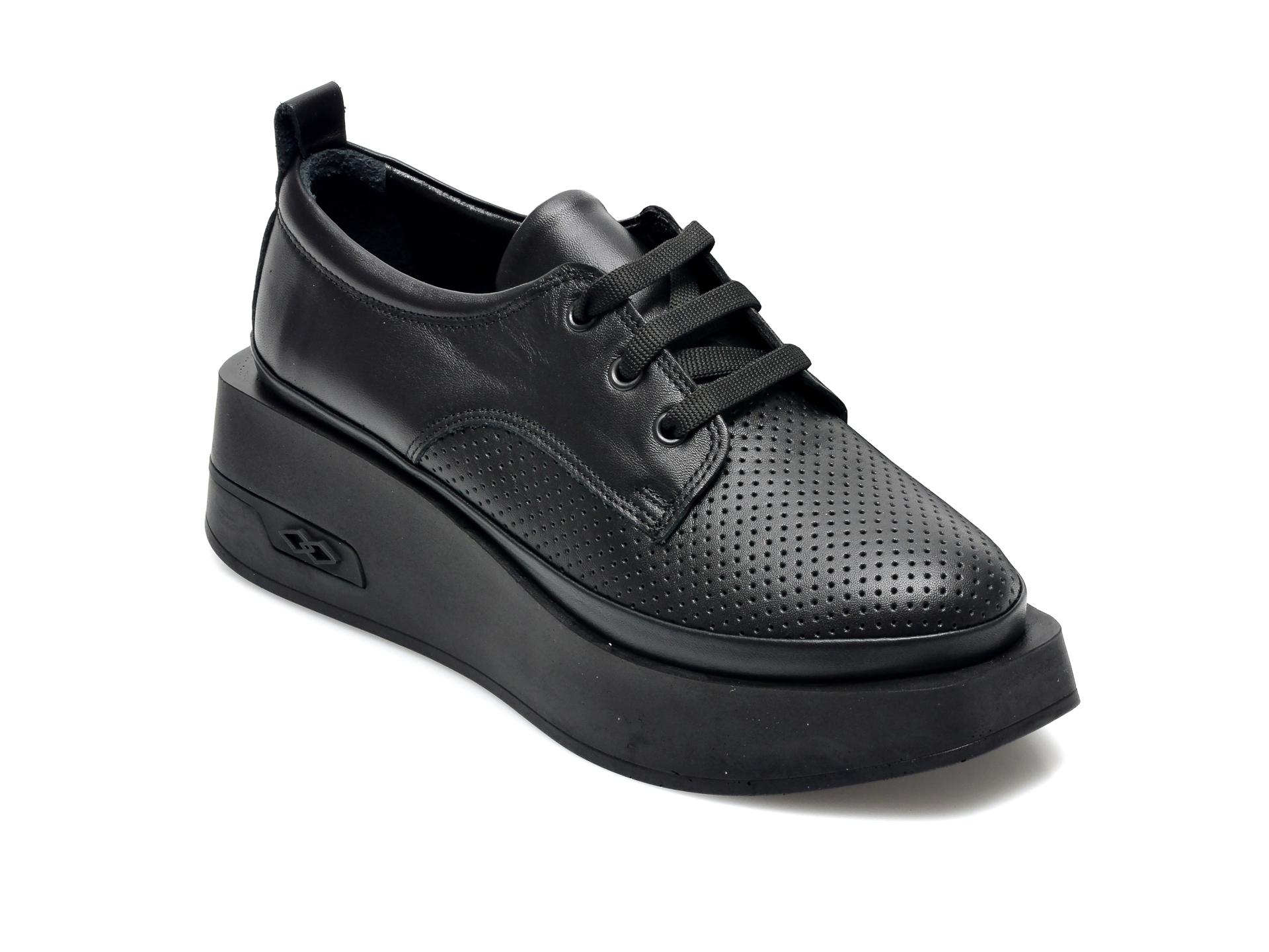 Pantofi EPICA negri, 2298221, din piele naturala imagine otter.ro 2021