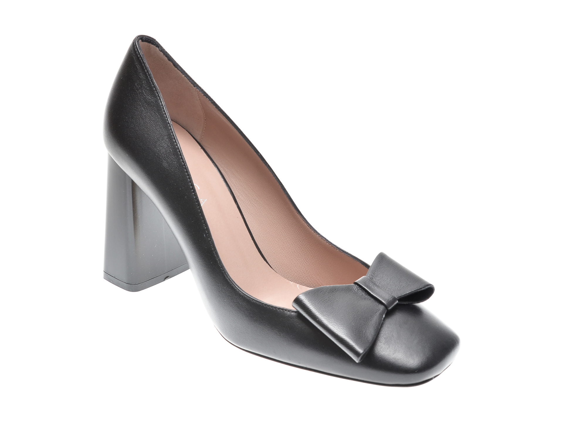 Pantofi EPICA negri, 25644, din piele naturala