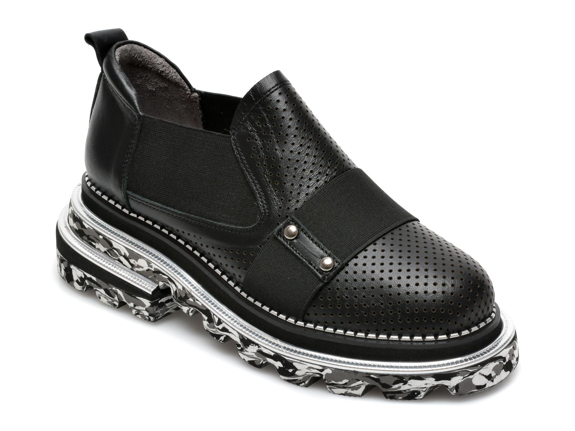 Pantofi EPICA negri, 297530, din piele naturala imagine otter.ro 2021