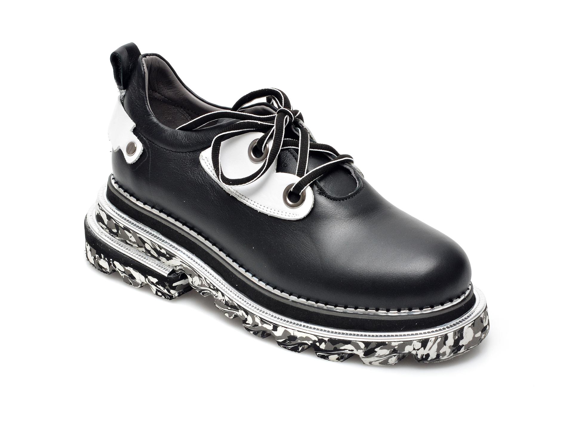 Pantofi EPICA negri, 297556, din piele naturala