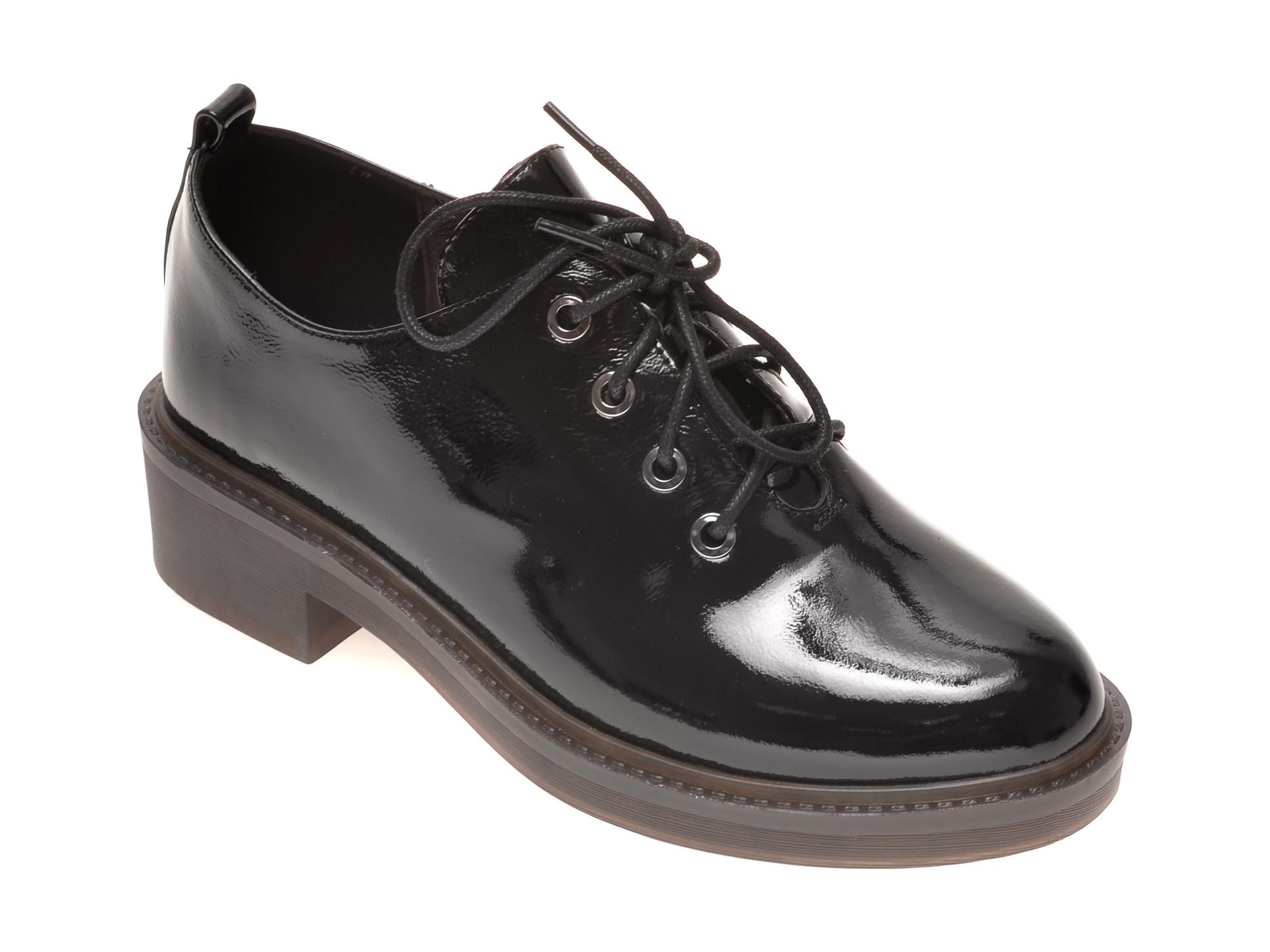 Pantofi EPICA negri, 2F606B0, din piele naturala lacuita imagine otter.ro