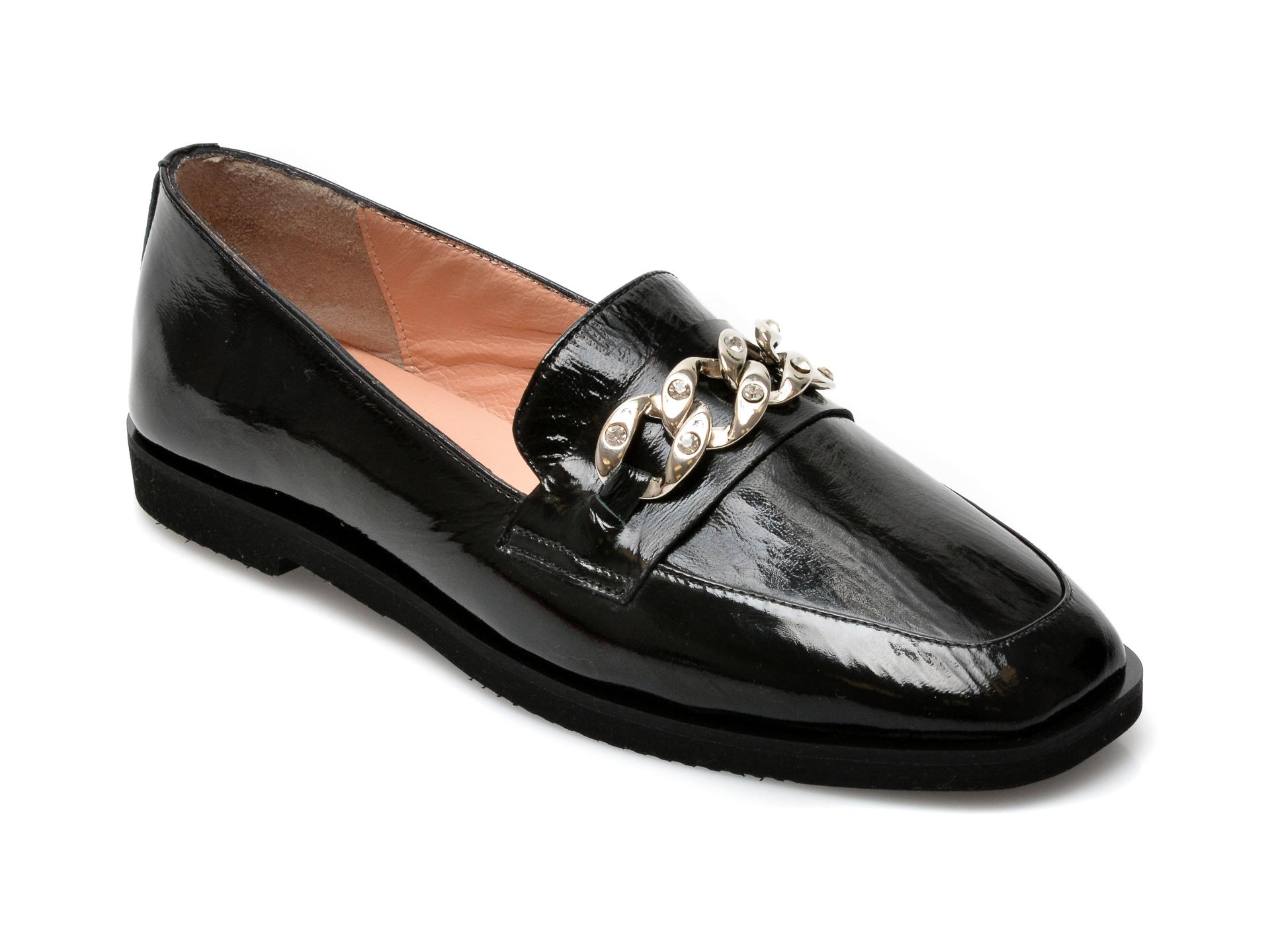 Pantofi EPICA negri, 3094203, din piele naturala lacuita imagine otter.ro 2021
