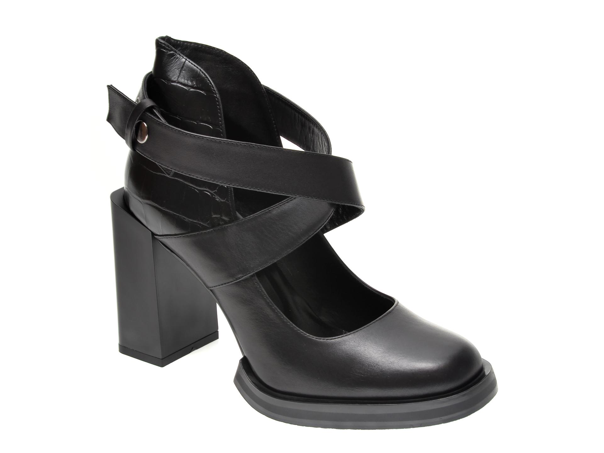 Pantofi EPICA negri, 4070, din piele naturala imagine otter.ro