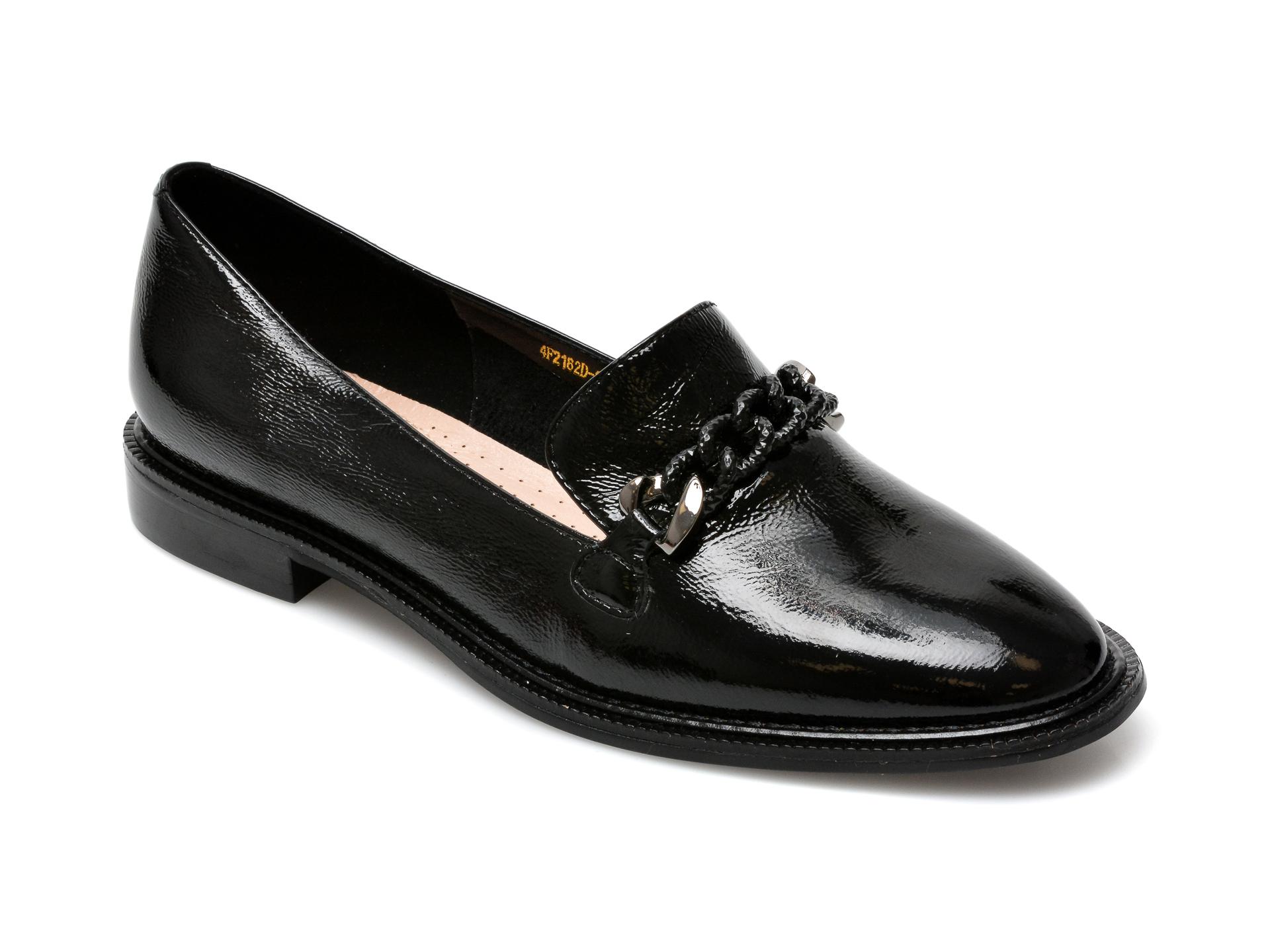 Pantofi EPICA negri, 4F202A9, din piele naturala lacuita imagine otter.ro 2021