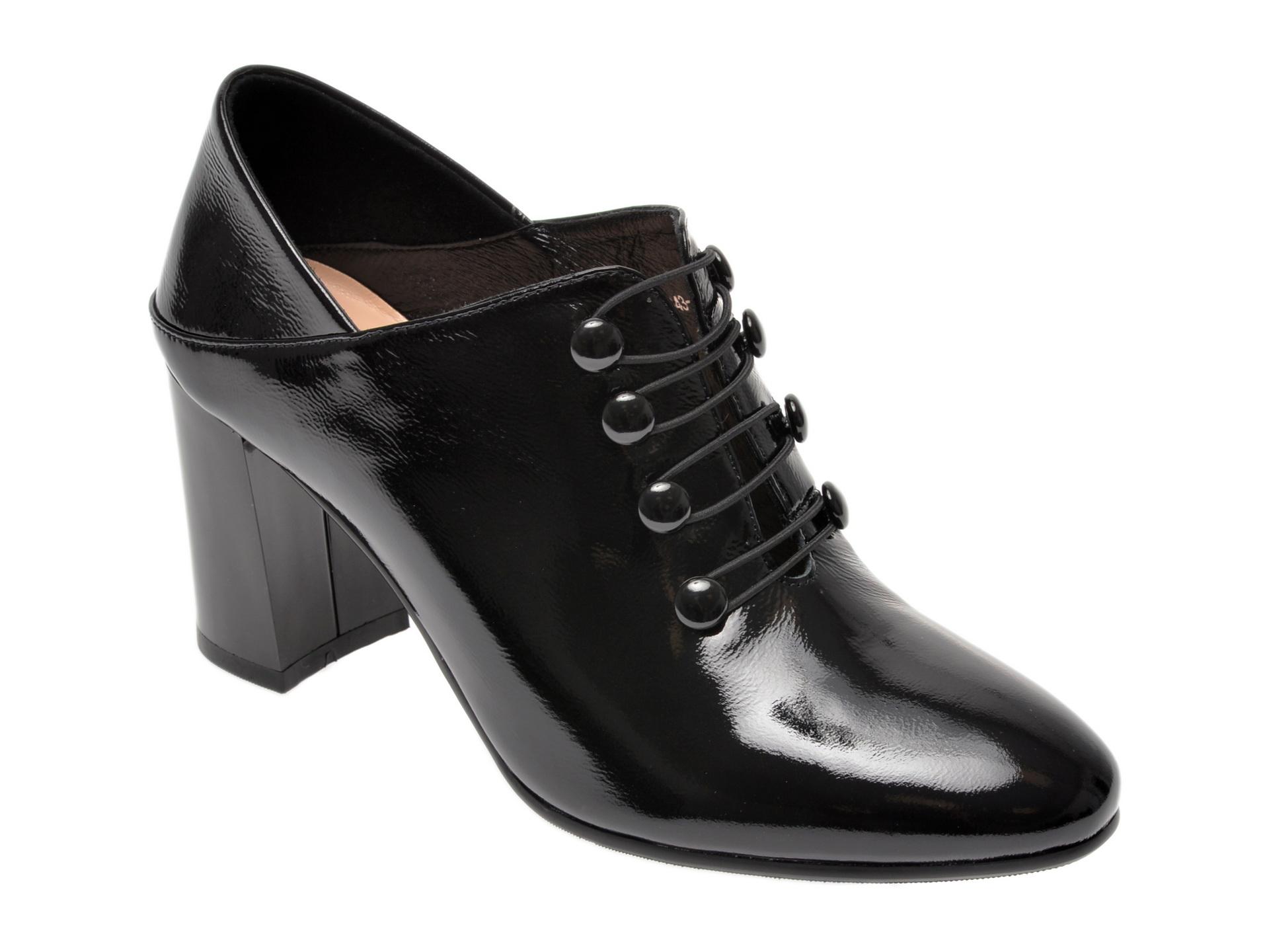Pantofi EPICA negri, 6054834, din piele naturala lacuita imagine