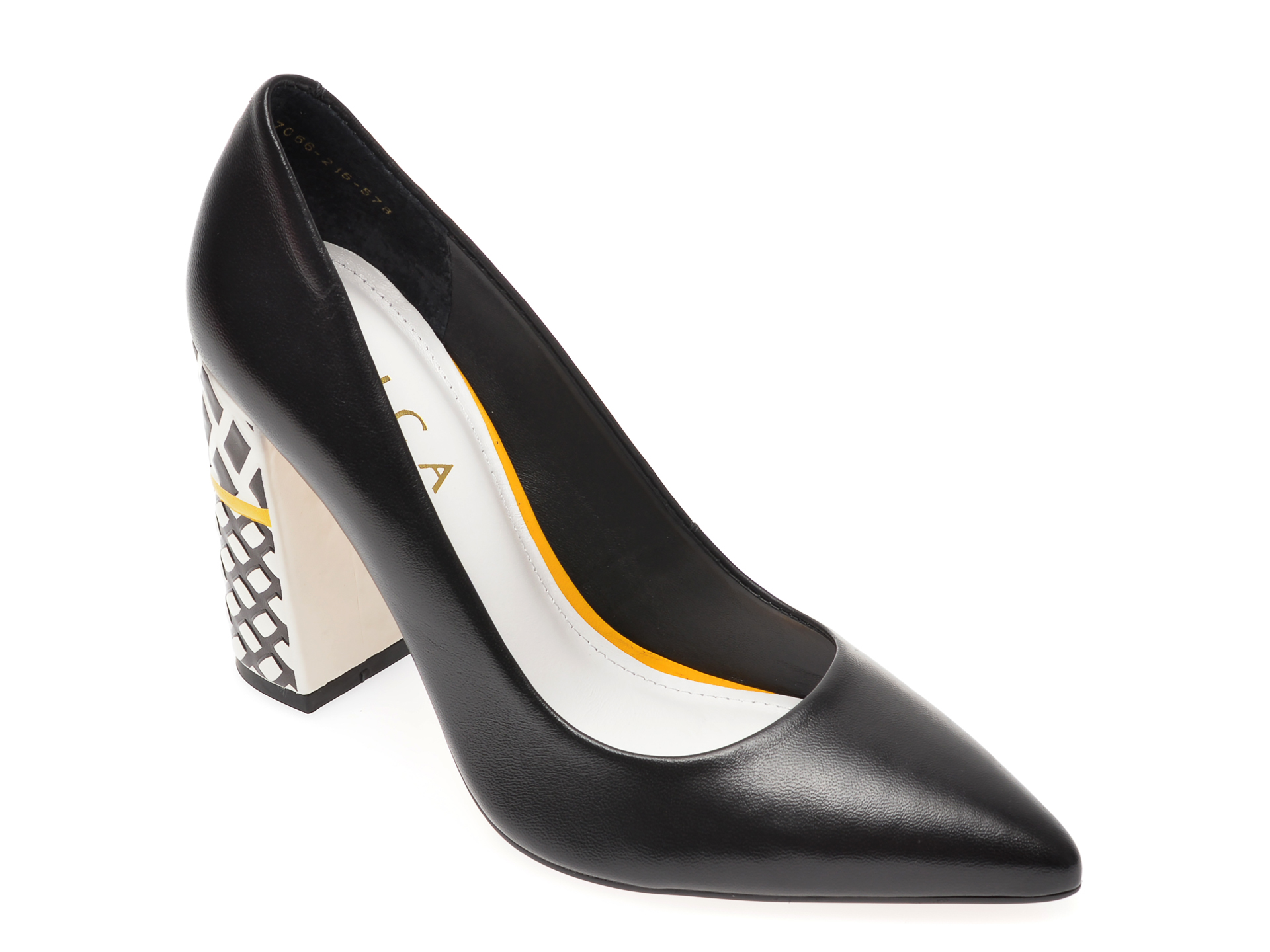 Pantofi EPICA negri, 7066215, din piele naturala