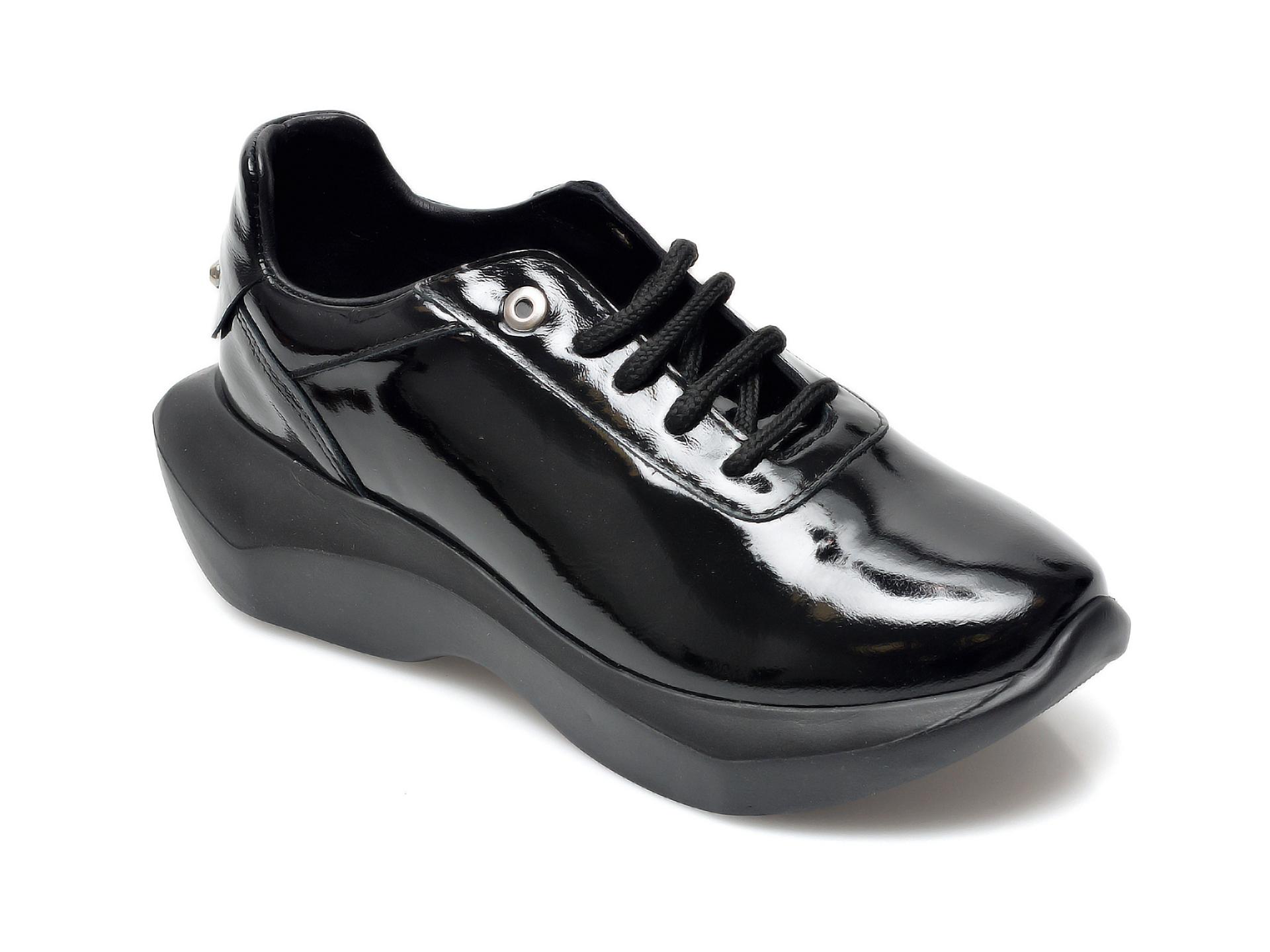Pantofi EPICA negri, 731287, din piele naturala lacuita imagine otter.ro 2021
