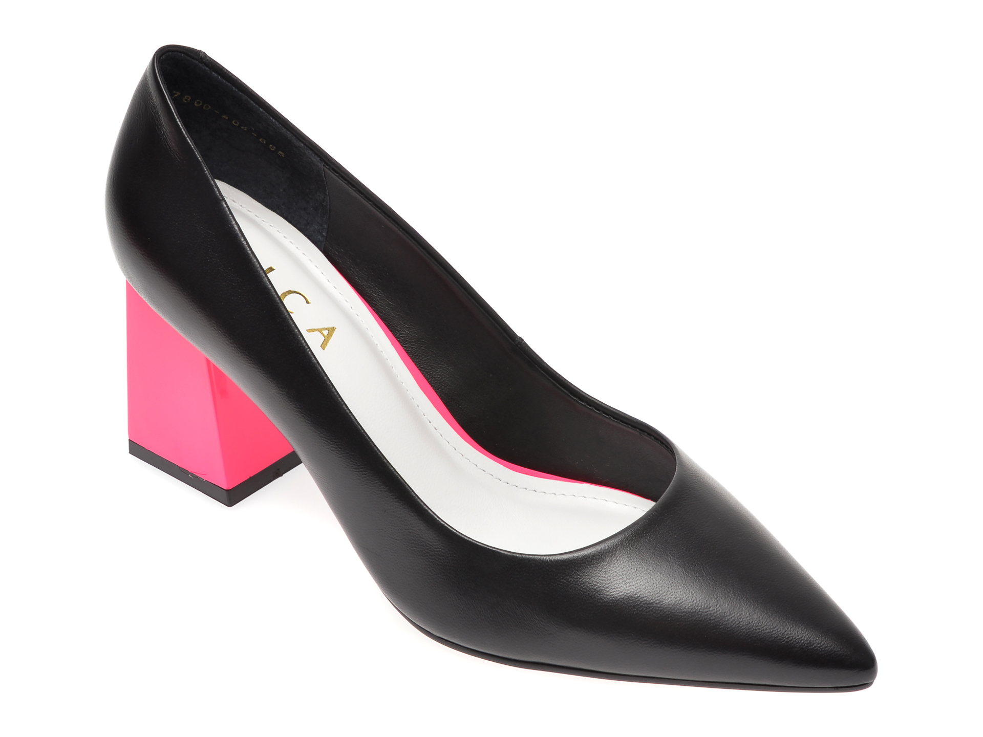 Pantofi EPICA negri, 7800404, din piele naturala New