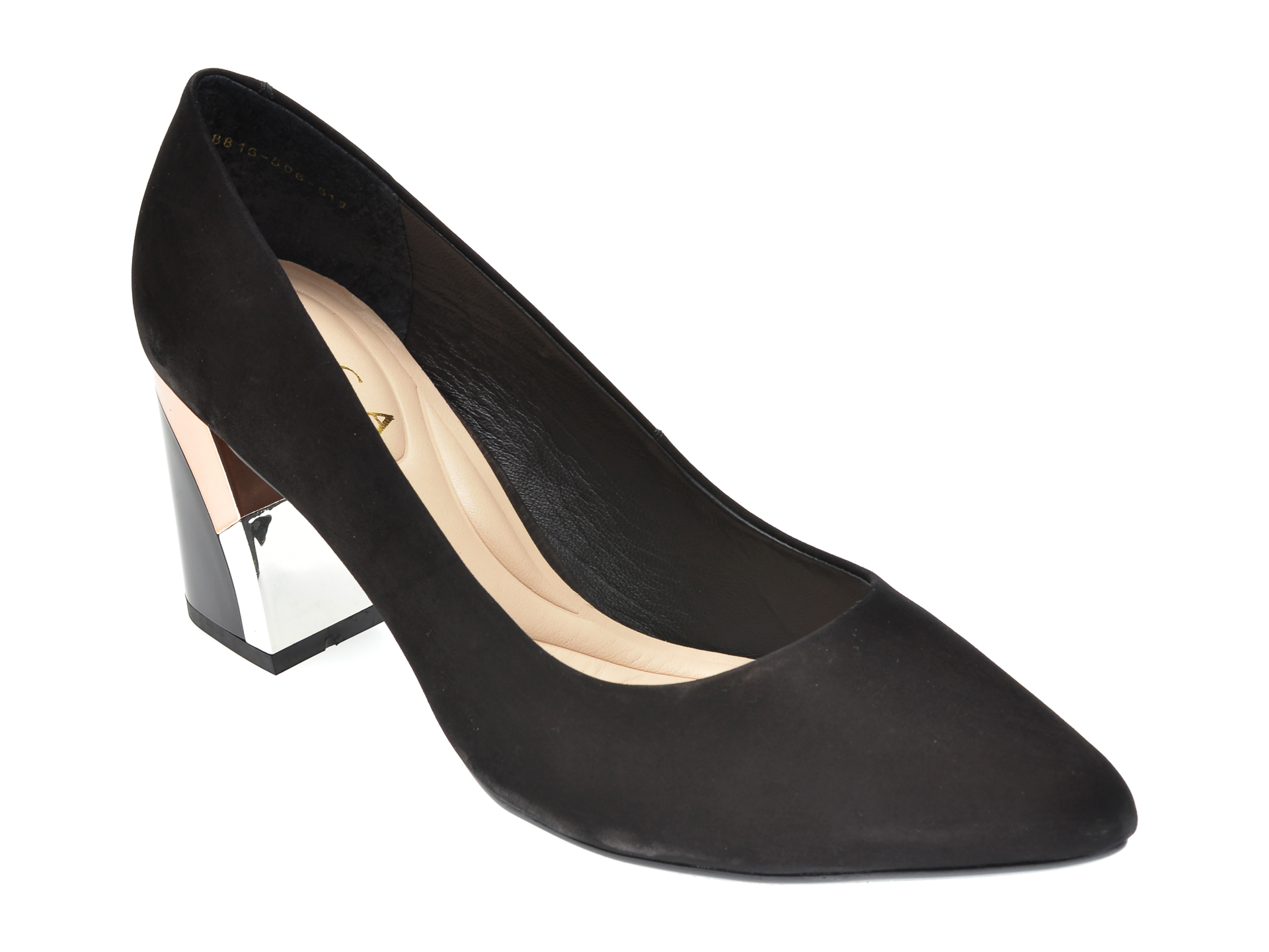 Pantofi EPICA negri, 8816506, din nabuc