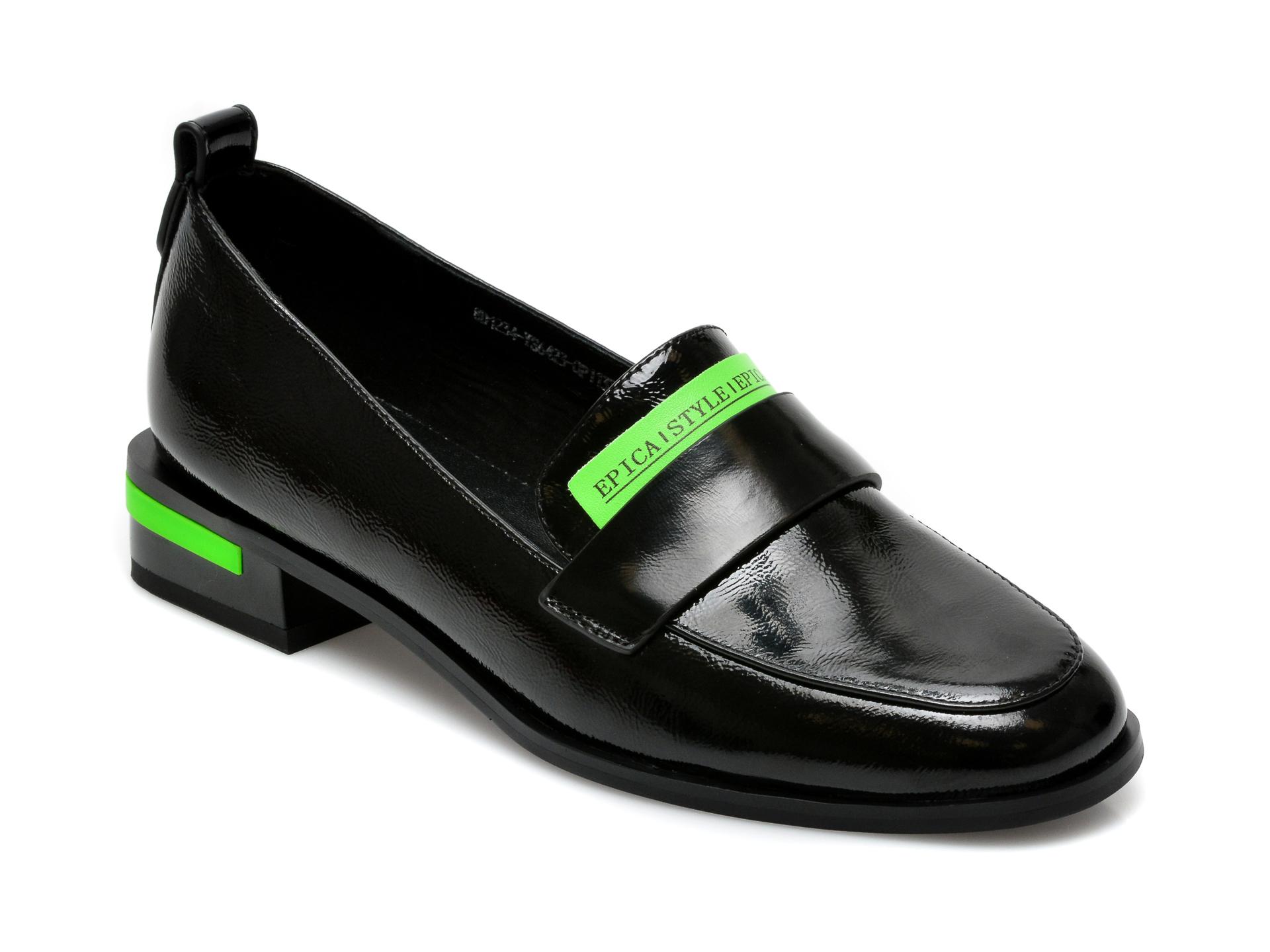 Pantofi EPICA negri, 8D1234Y, din piele naturala lacuita imagine otter.ro 2021