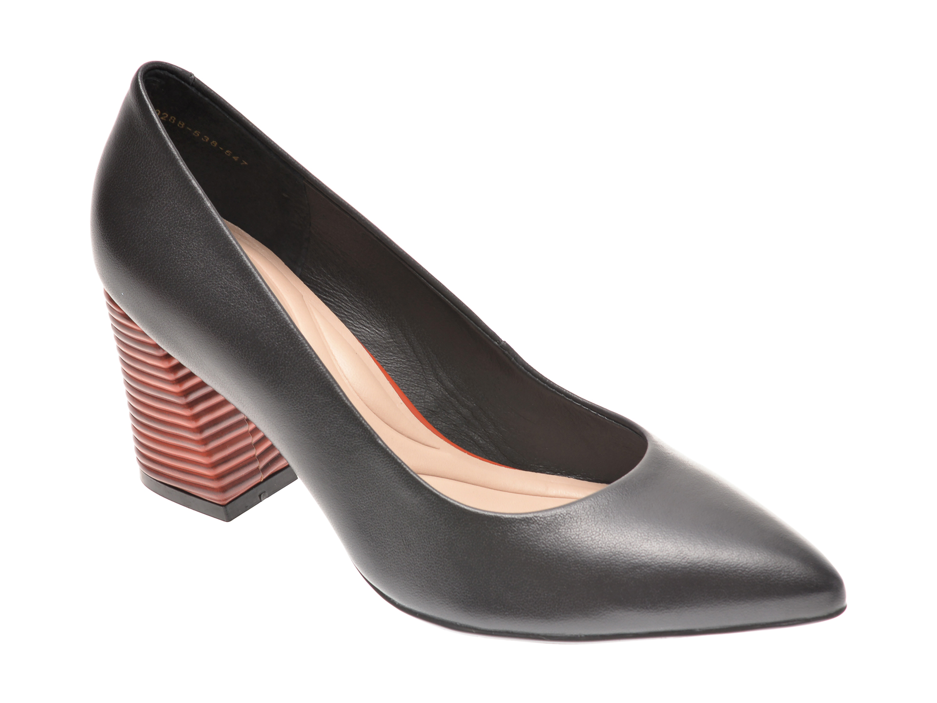 Pantofi EPICA negri, 9288538, din piele naturala imagine otter.ro 2021