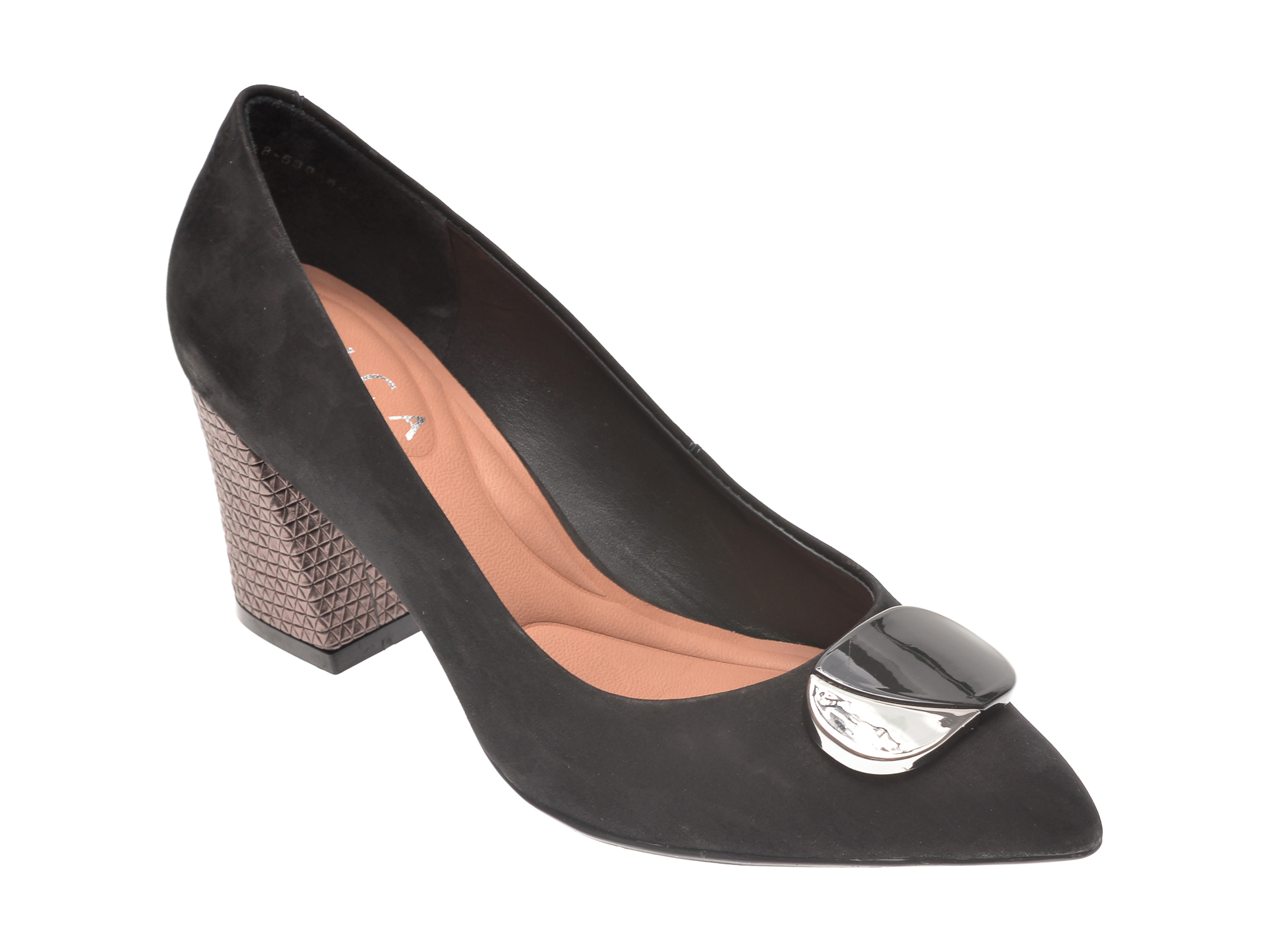 Pantofi EPICA negri, 9628538, din nabuc imagine otter.ro