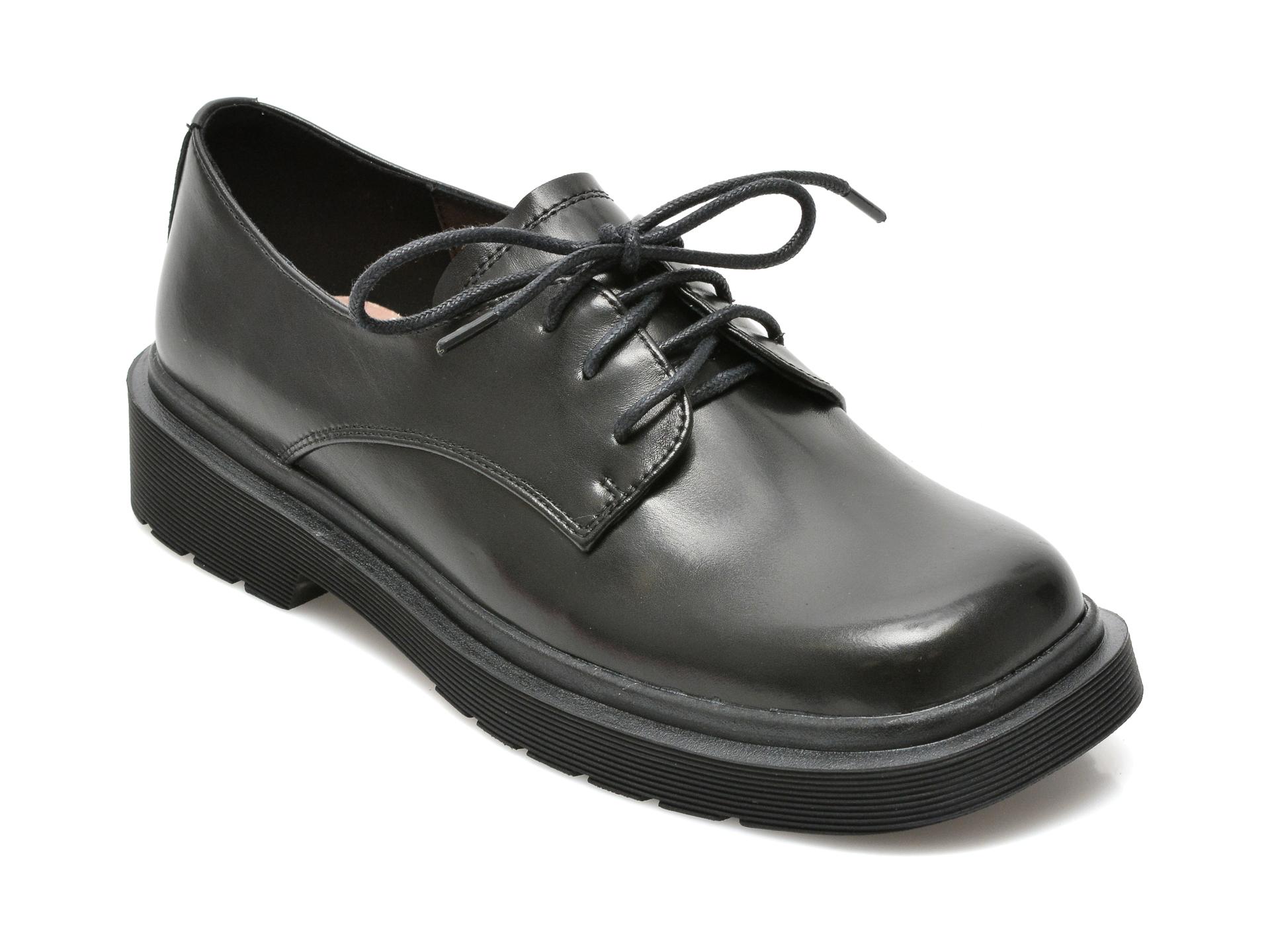 Pantofi EPICA negri, 9A668, din piele naturala