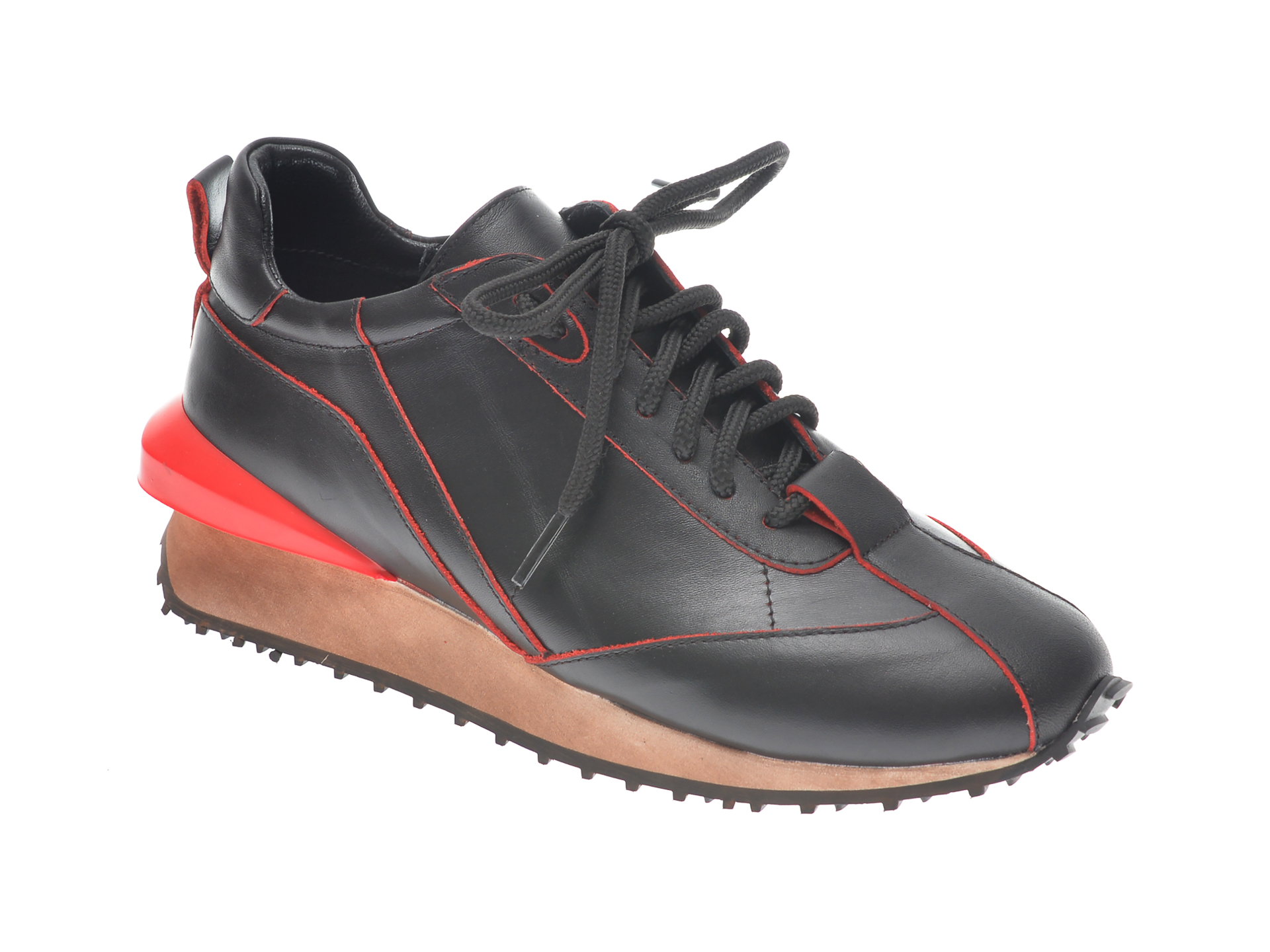 Pantofi EPICA negri, B1075, din piele naturala imagine