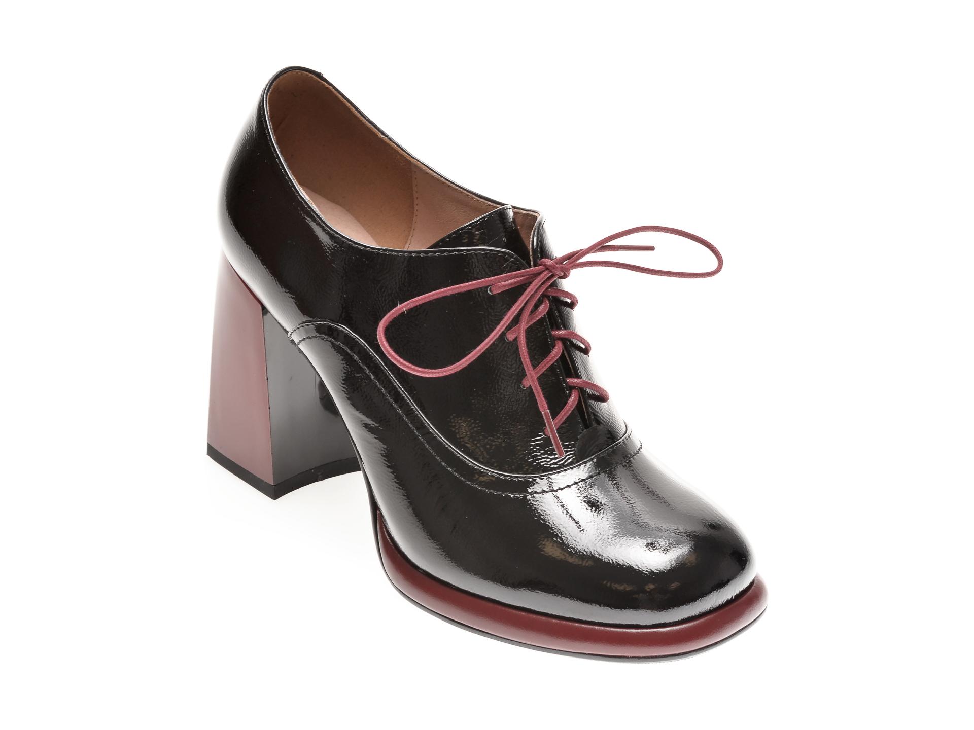 Pantofi EPICA negri, H657722, din piele naturala lacuita imagine