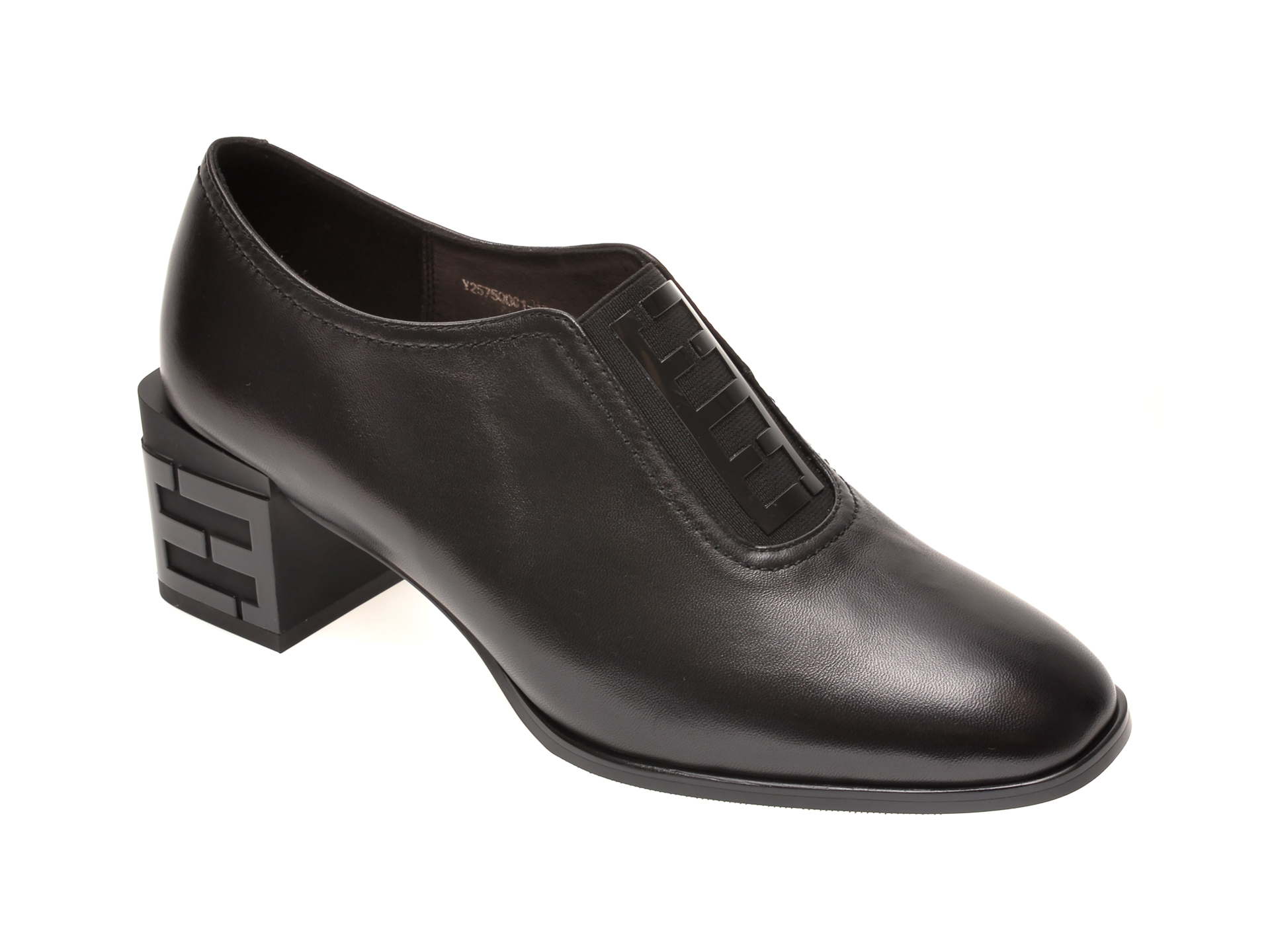 Pantofi EPICA negri, Y2575Q0, din piele naturala