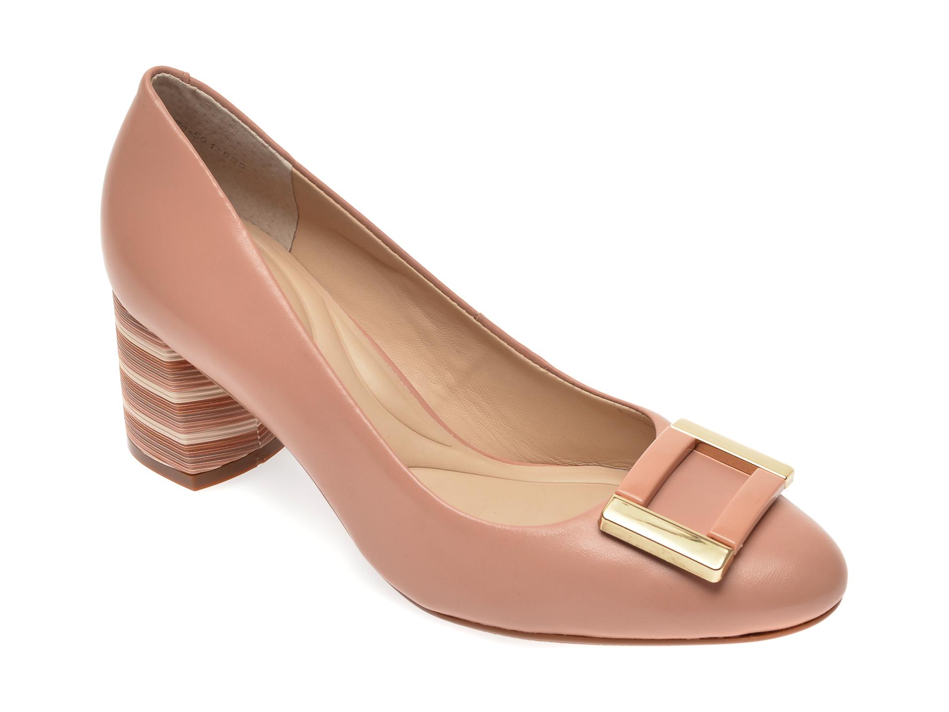 Pantofi EPICA nude, 1678561, din piele naturala
