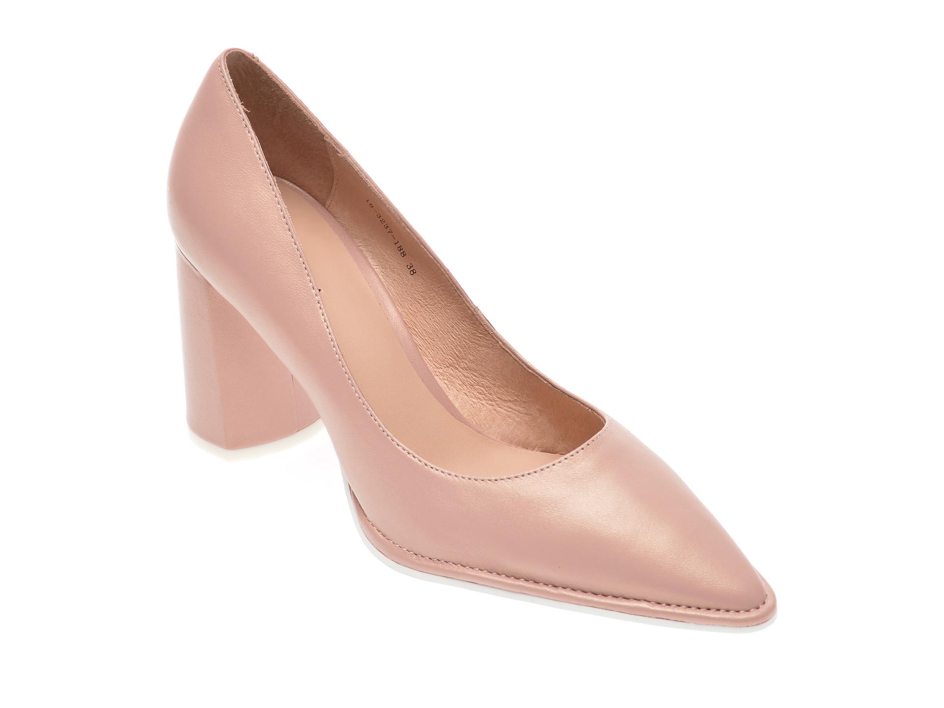 Pantofi EPICA nude, 183237, din piele naturala