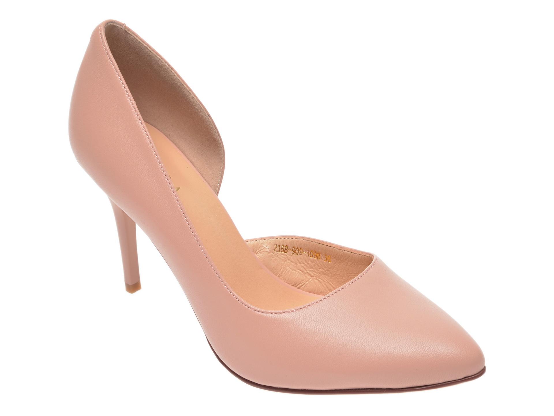 Pantofi EPICA nude, 2168909, din piele naturala imagine