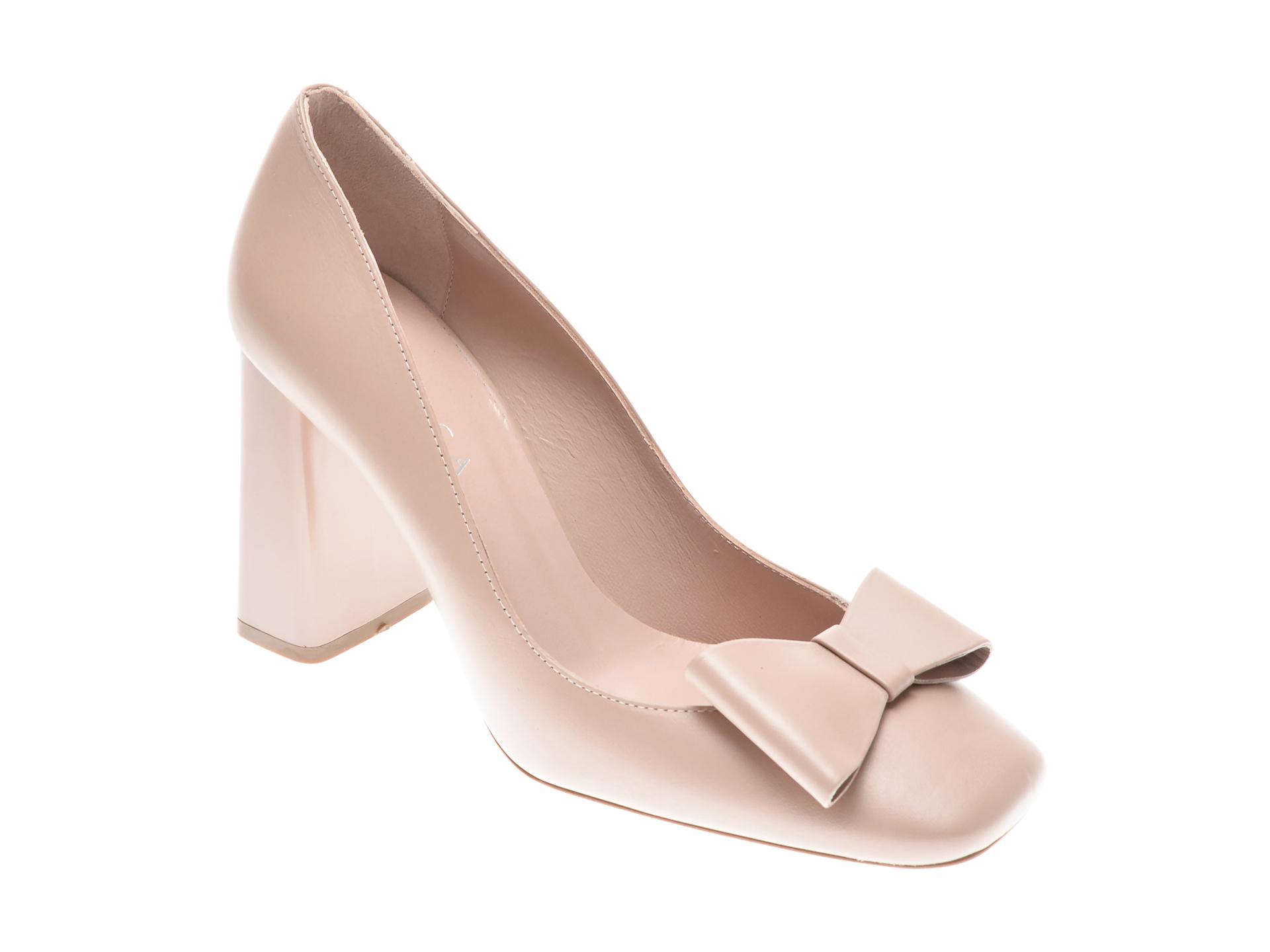 Pantofi EPICA nude, 25644, din piele naturala